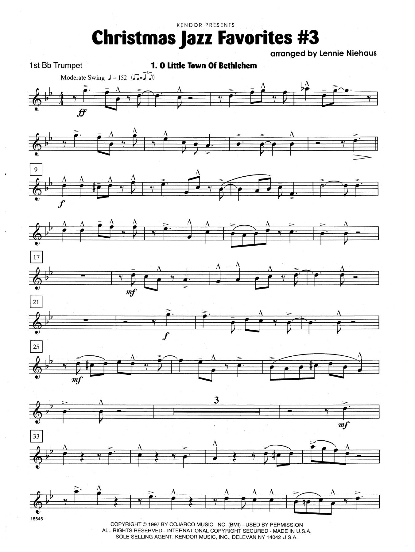 Christmas Jazz Favorites #3 - 1st Bb Trumpet Sheet Music