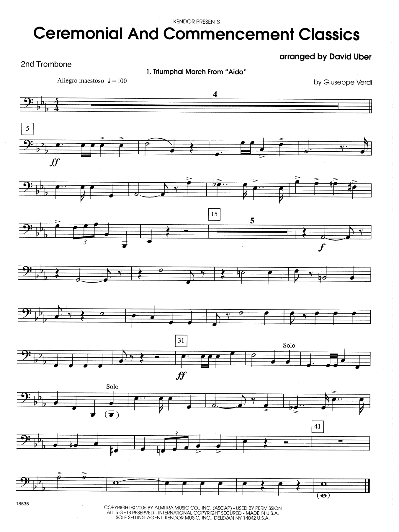 Ceremonial And Commencement Classics - 2nd Trombone Sheet Music