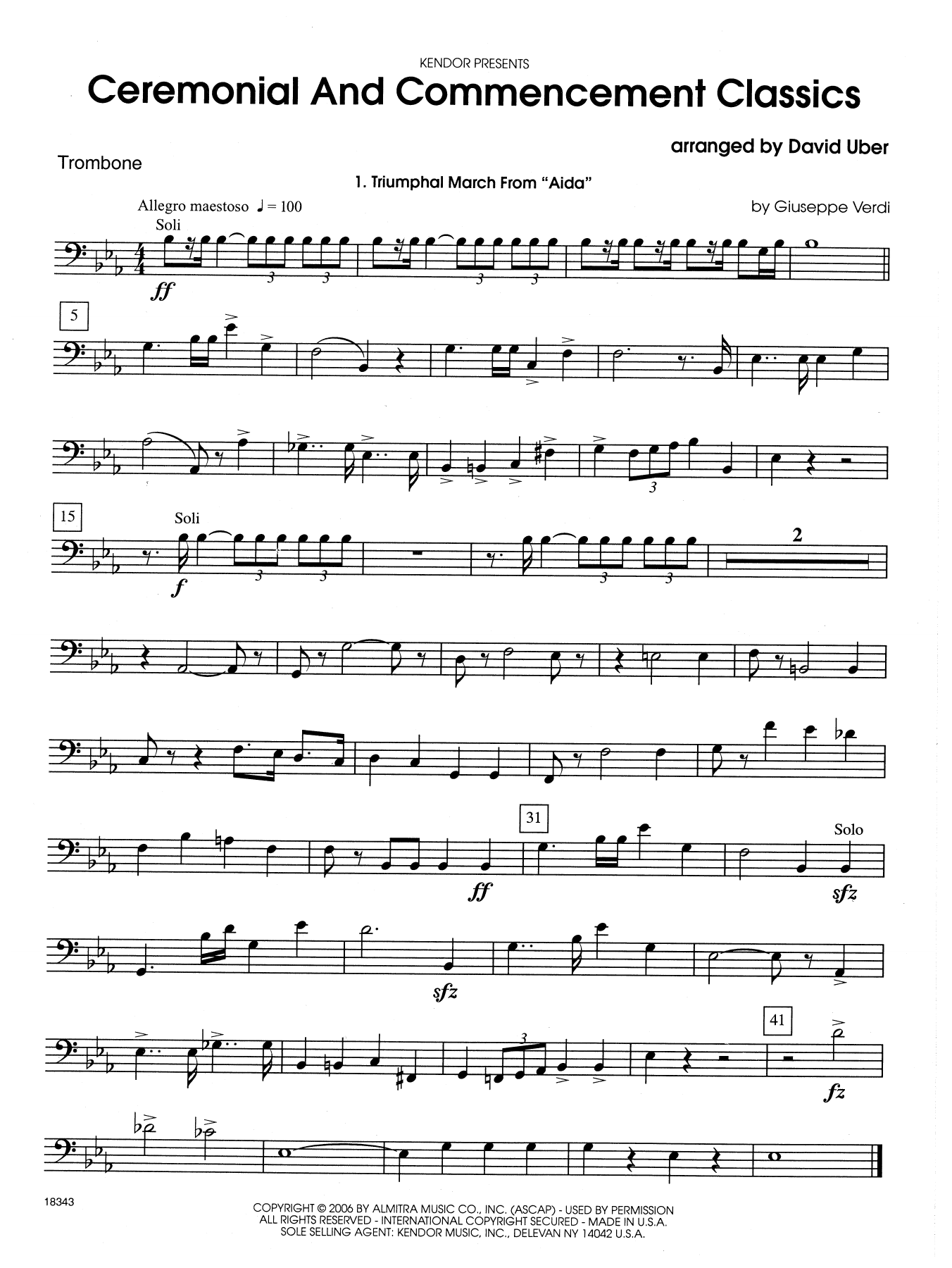 Ceremonial And Commencement Classics - Trombone Sheet Music