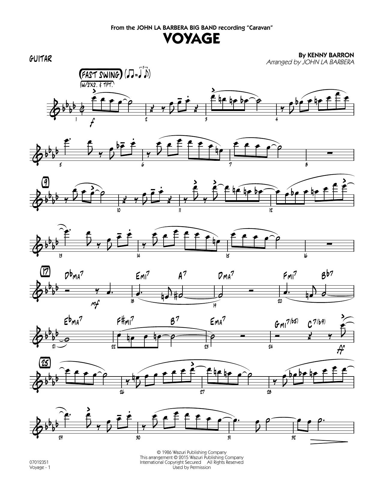 Voyage - Guitar (Jazz Ensemble)