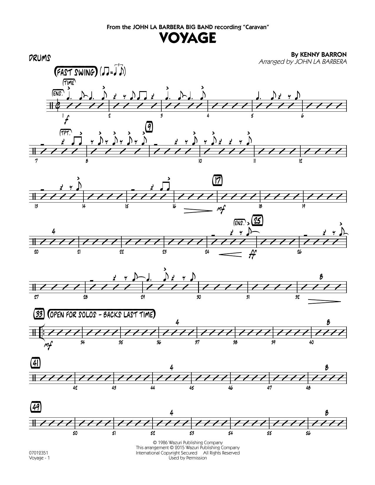 Voyage - Drums (Jazz Ensemble)