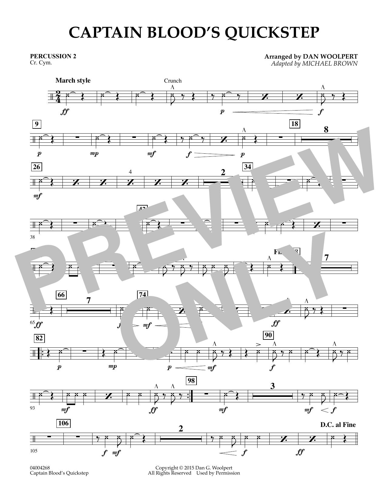 Captain Blood's Quickstep - Score & Parts by Dan Woolpert Michael Brown