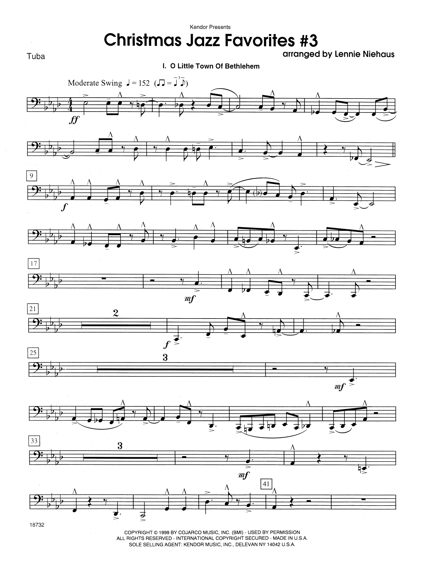 Christmas Jazz Favorites #3 - Tuba Sheet Music