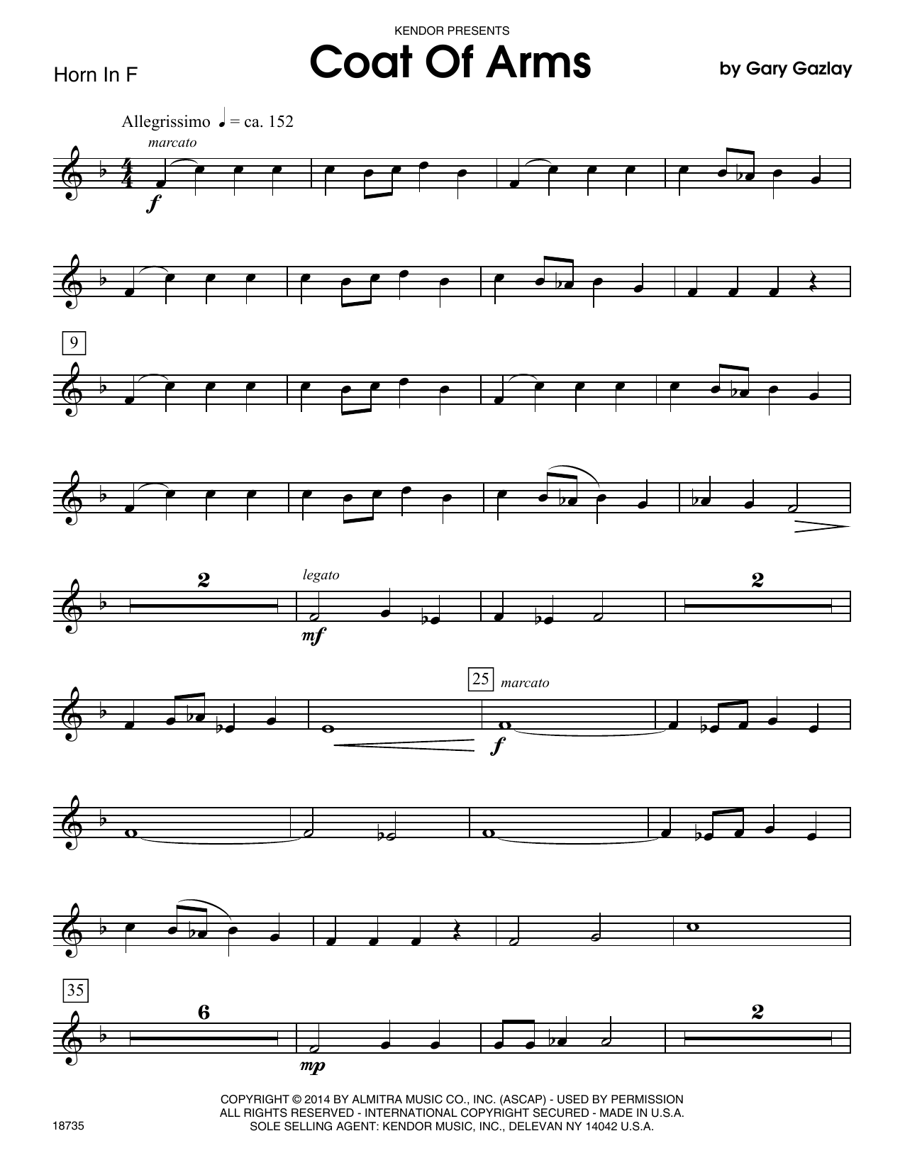 Coat Of Arms - Horn in F Sheet Music