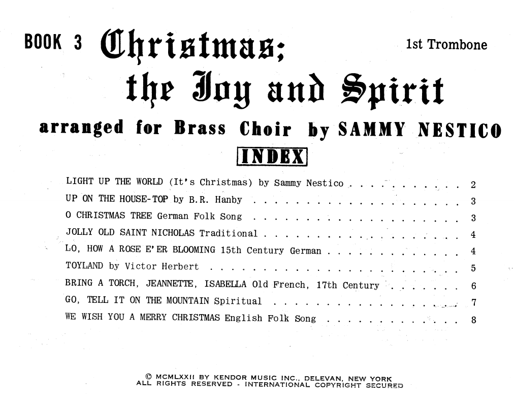 Christmas; The Joy & Spirit - Book 3/1st Trombone Sheet Music