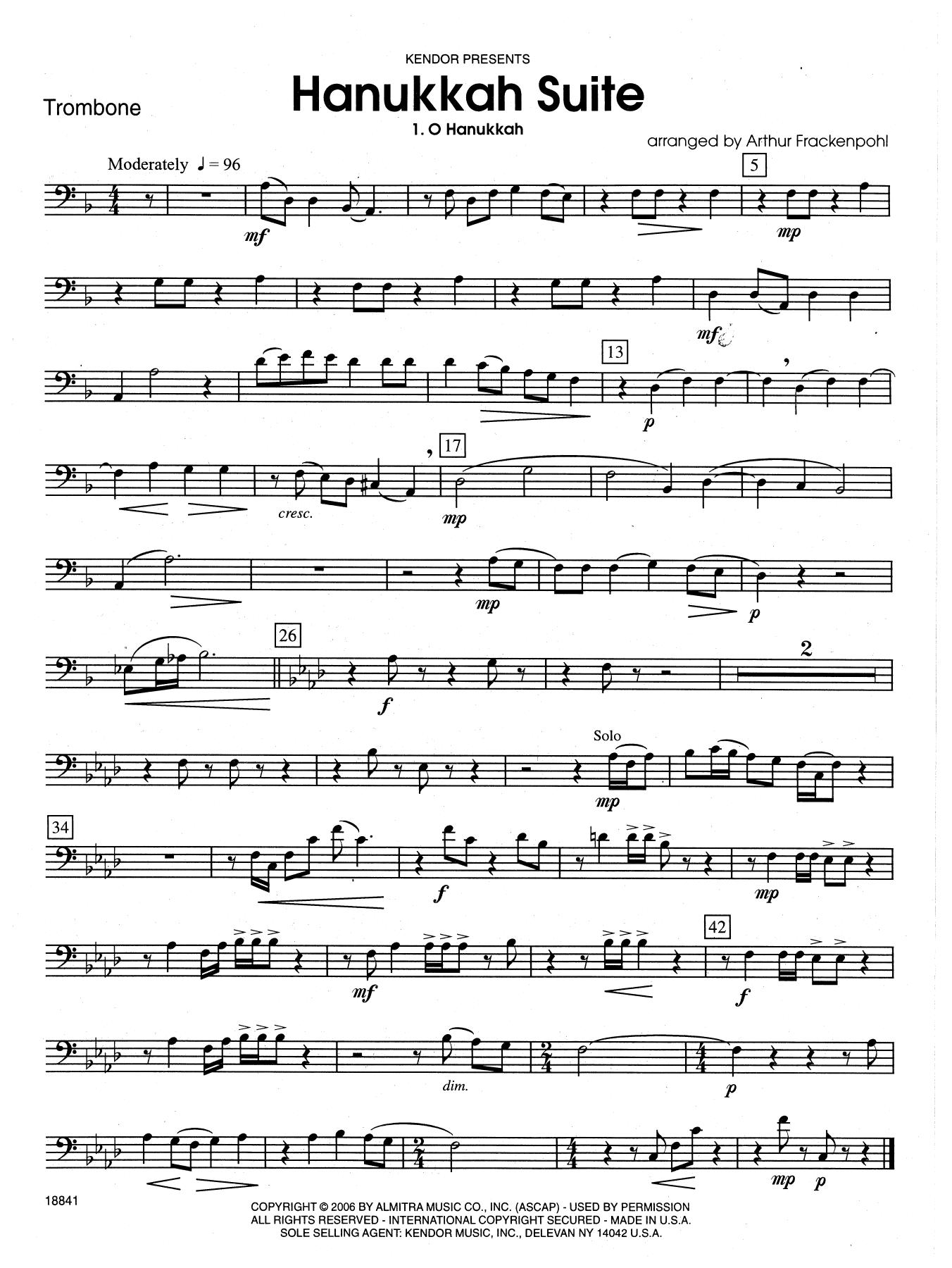 Hanukkah Suite - Trombone Sheet Music