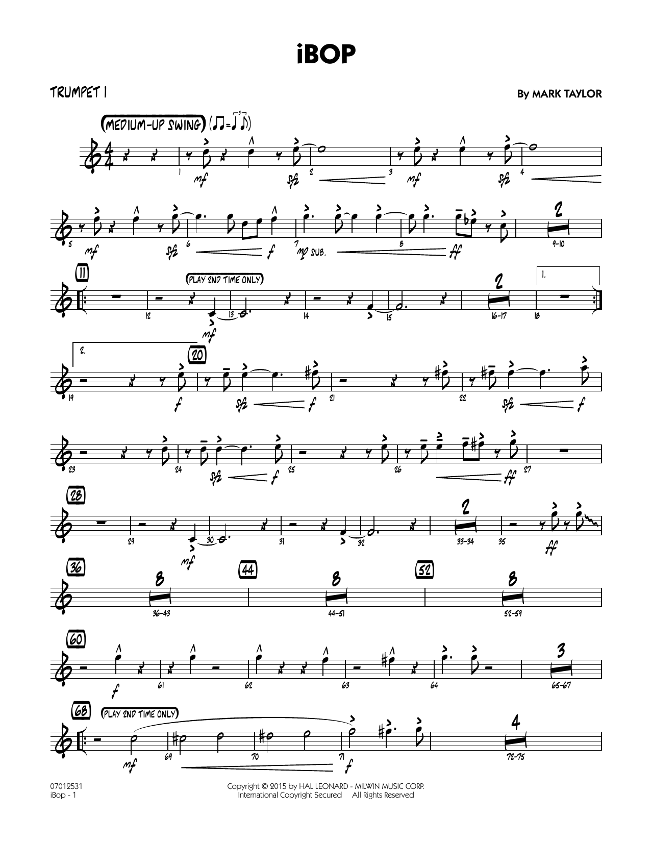 iBop - Trumpet 1 (Jazz Ensemble)