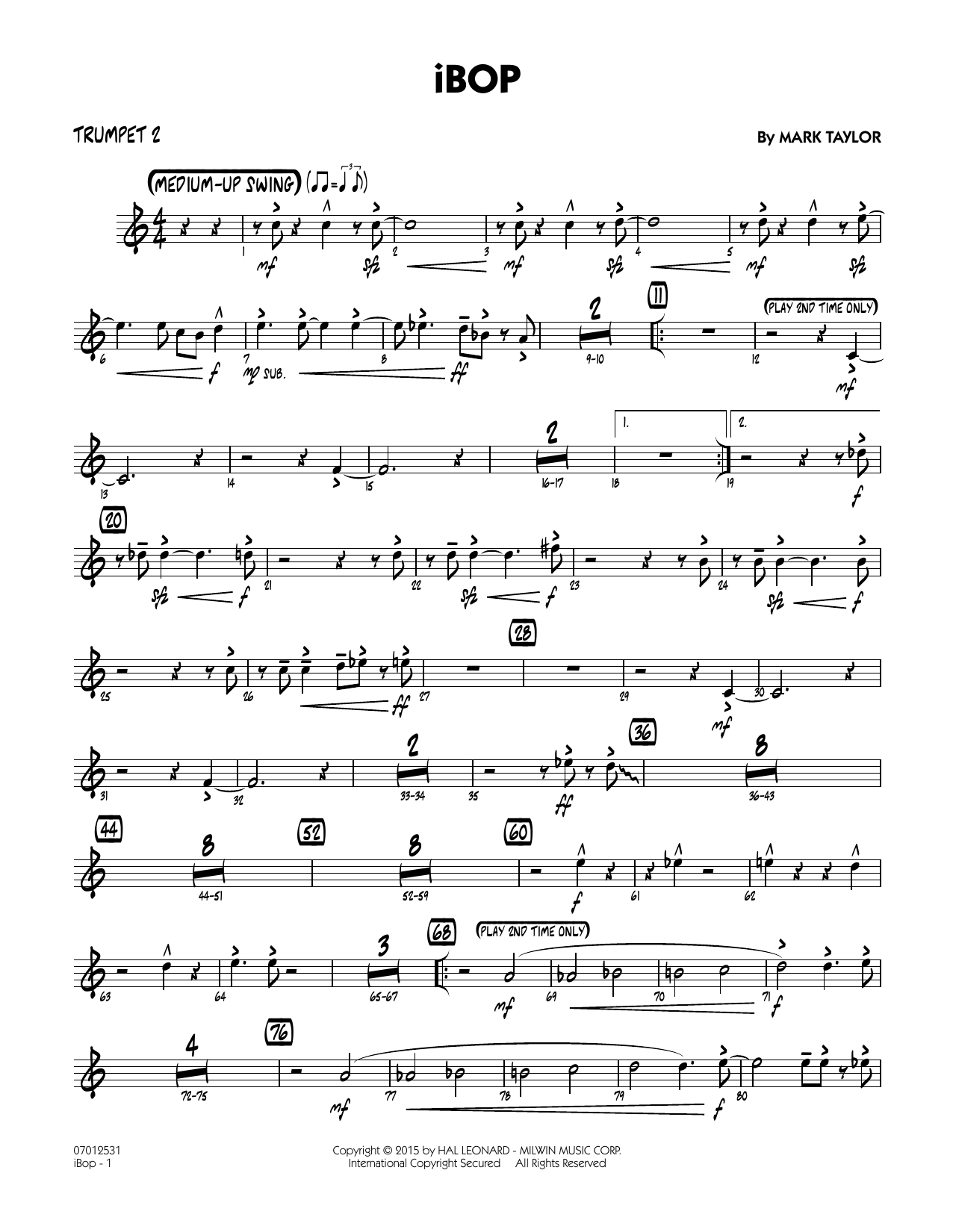 iBop - Trumpet 2 (Jazz Ensemble)