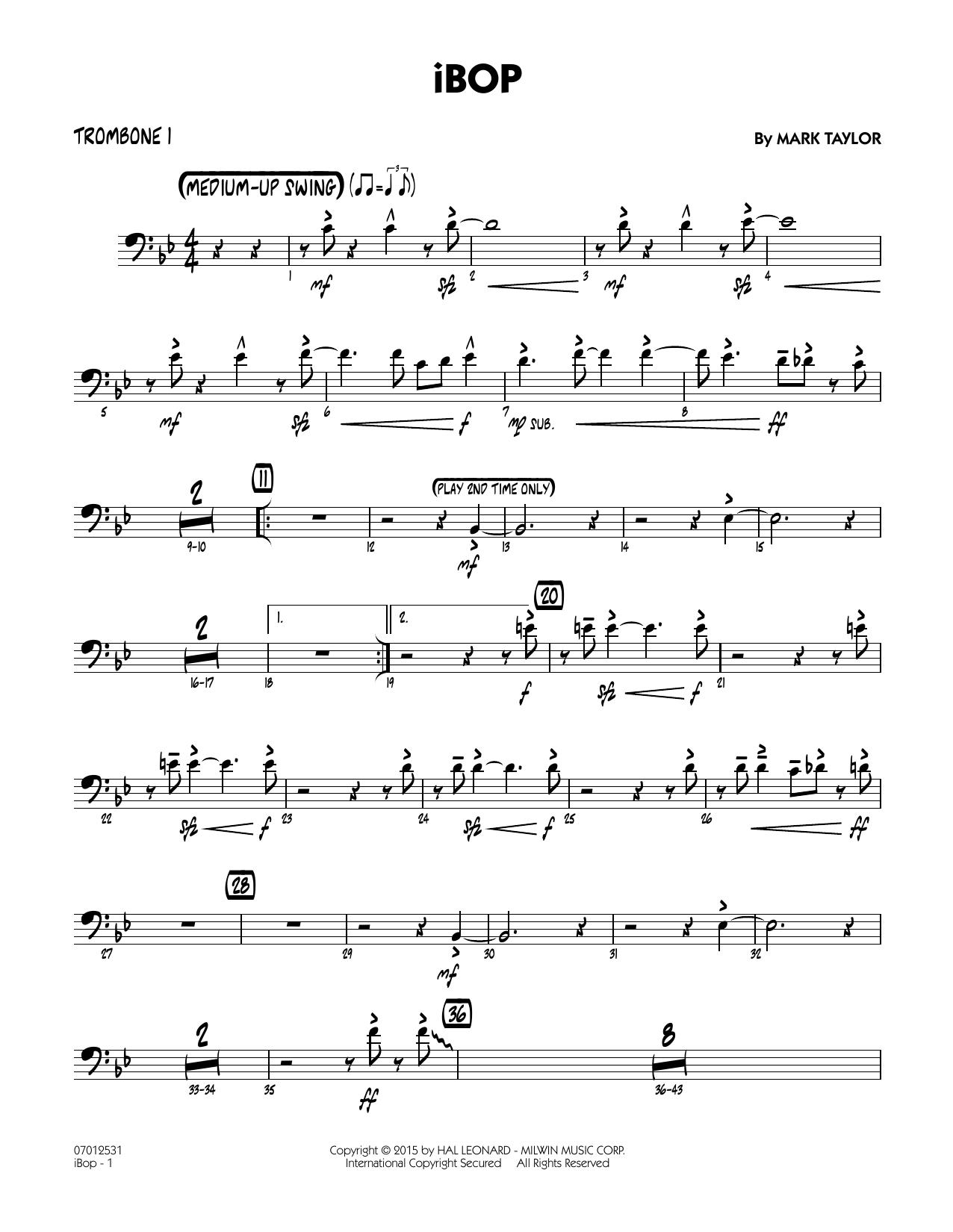 iBop - Trombone 1 (Jazz Ensemble)