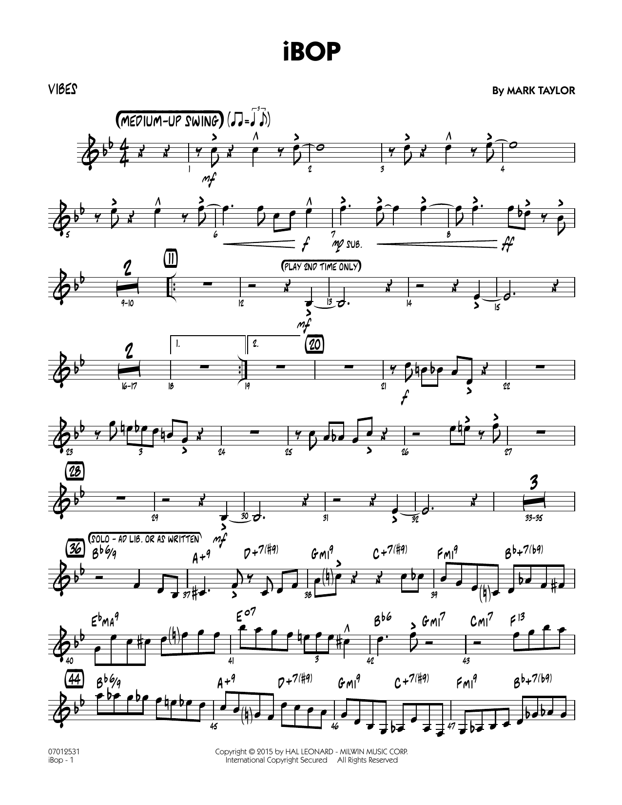iBop - Vibes (Jazz Ensemble)