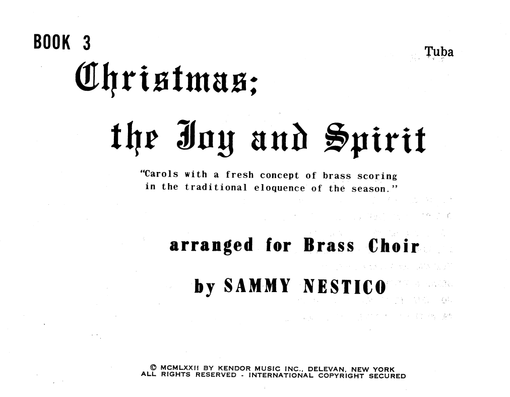 Christmas; The Joy & Spirit- Book 3/Tuba Sheet Music