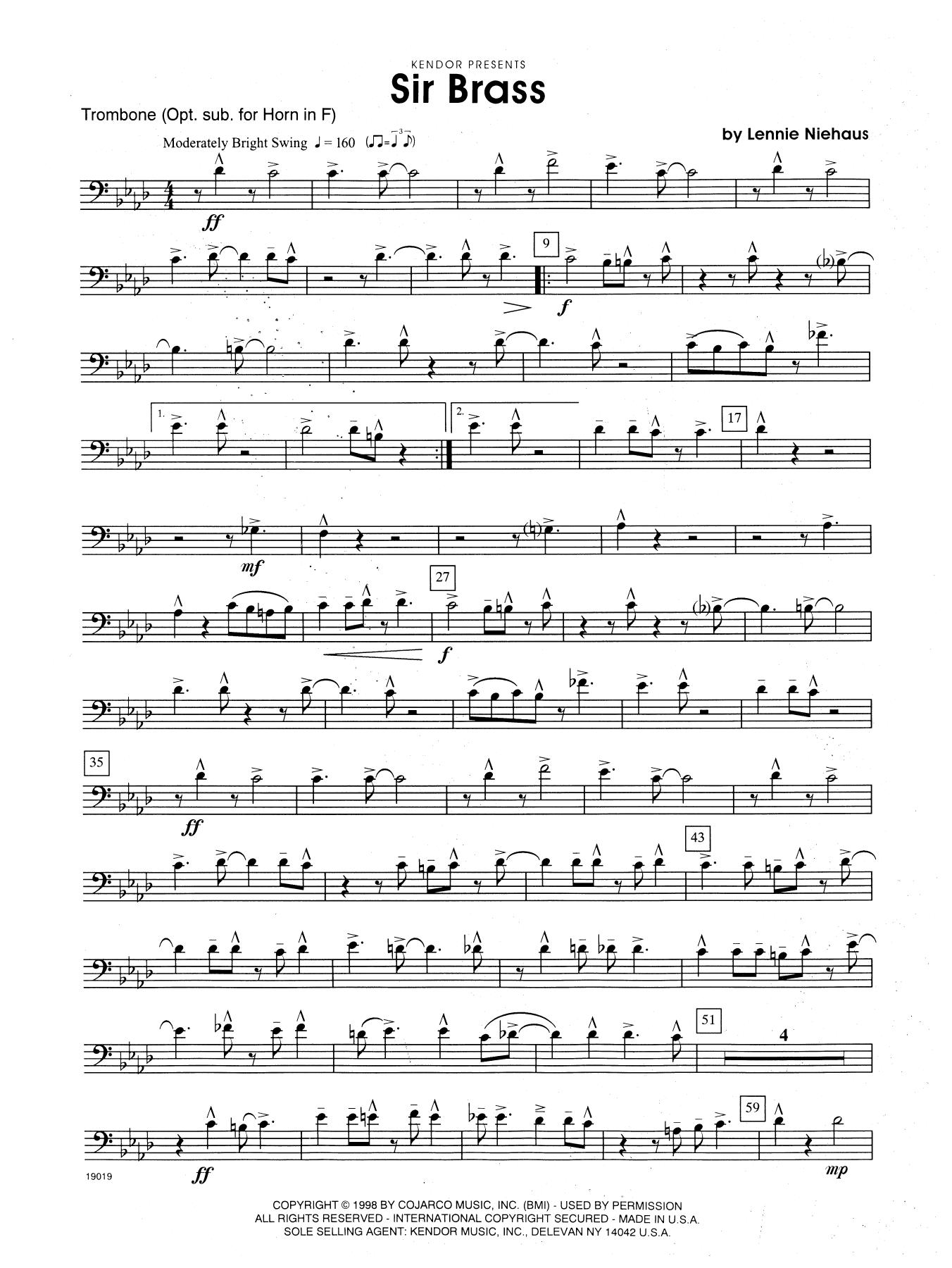 Sir Brass - Optional Trombone Sheet Music