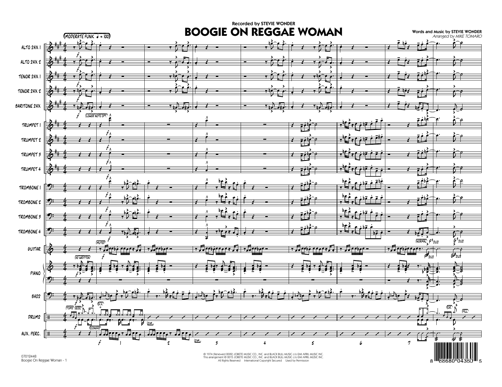 Boogie On Reggae Woman - Drums by Stevie Wonder - Hal Leonard - Prima Music