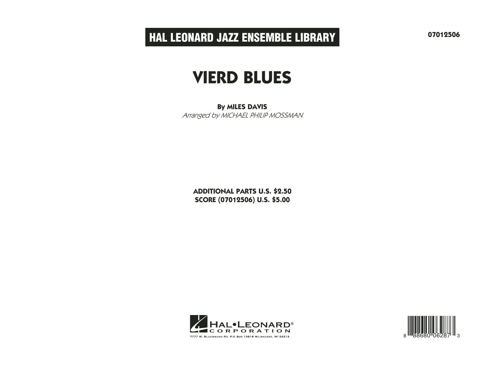 Vierd Blues (COMPLETE) sheet music for jazz band by Michael Philip Mossman and Miles Davis. Score Image Preview.