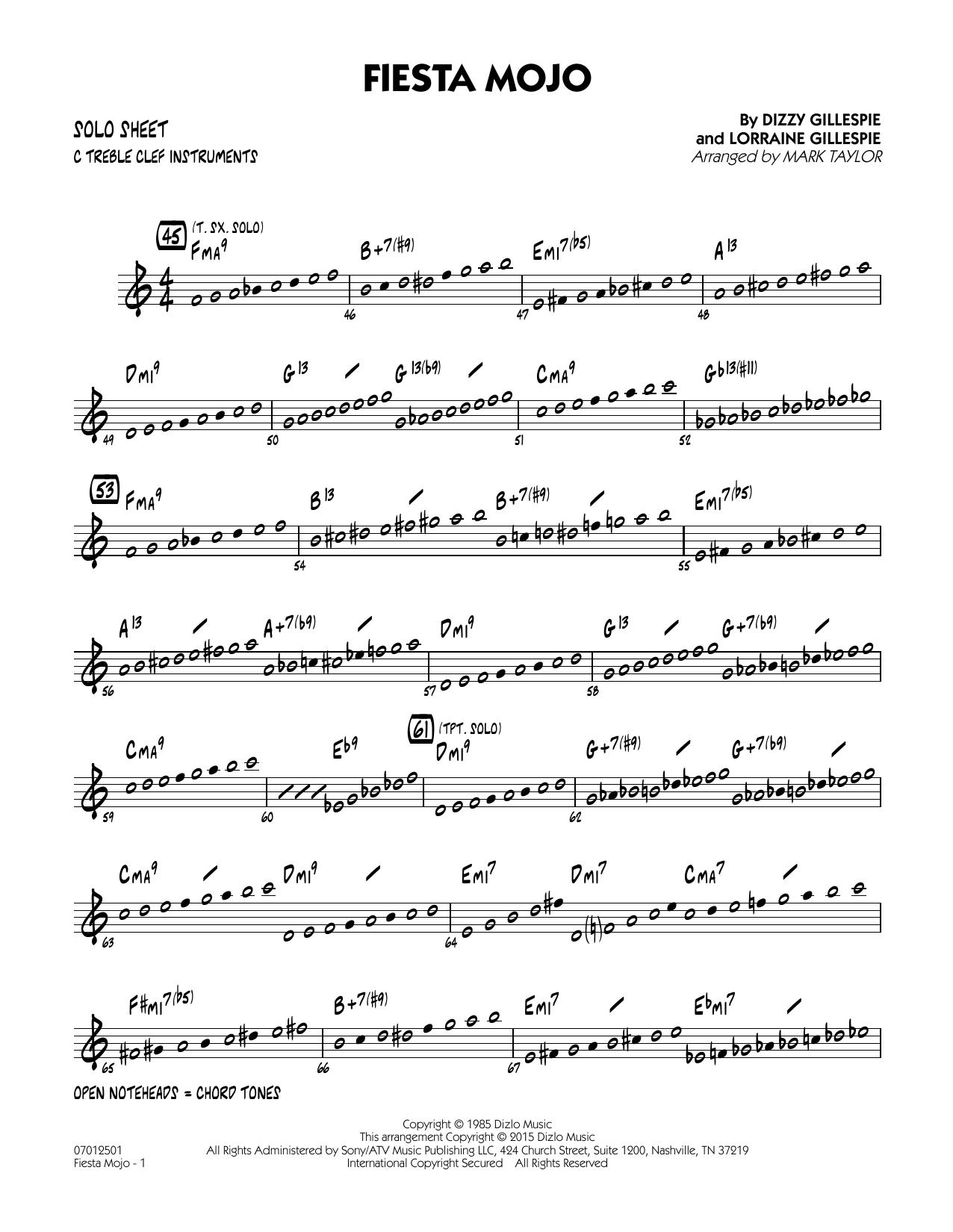 Fiesta Mojo - C Solo Sheet (Jazz Ensemble)