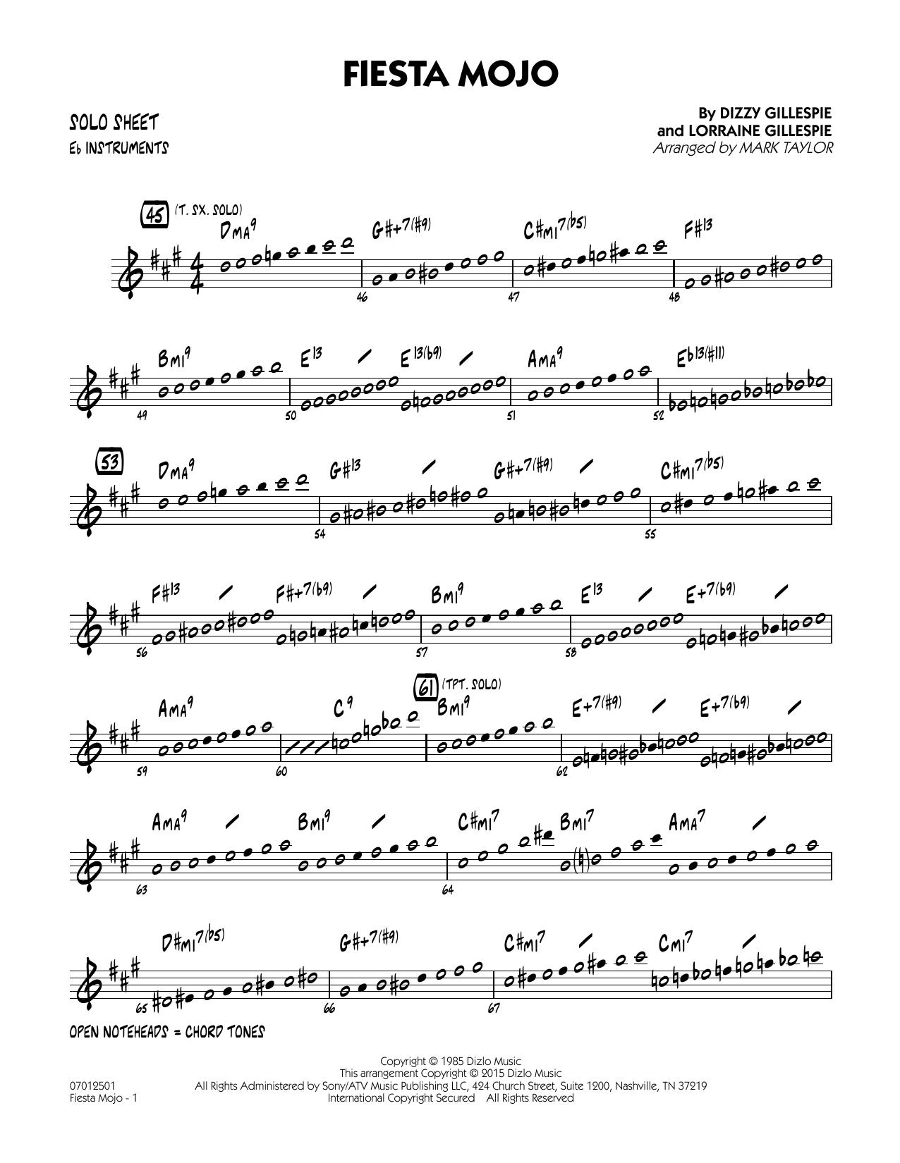 Fiesta Mojo - Eb Solo Sheet (Jazz Ensemble)