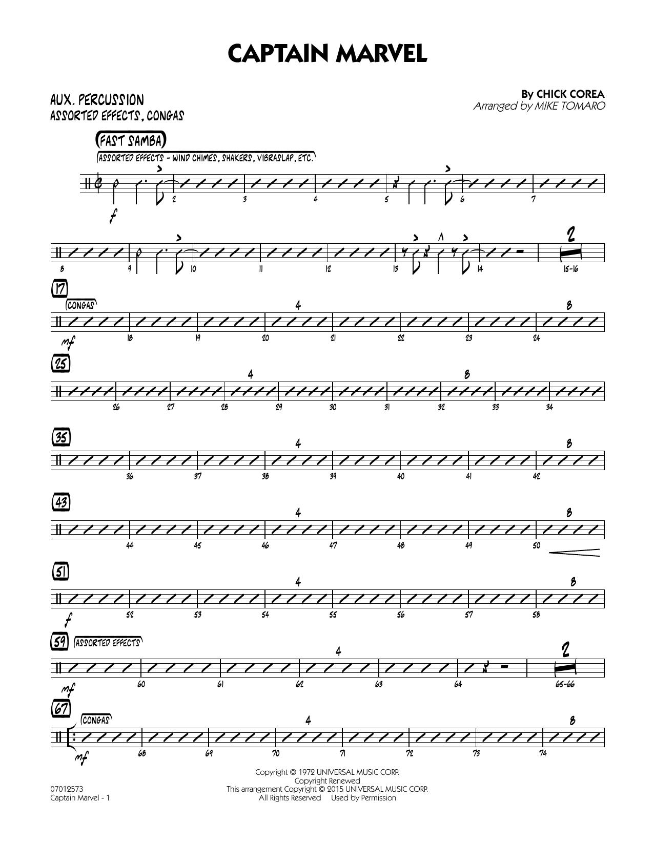 Captain Marvel - Aux Percussion (Jazz Ensemble)