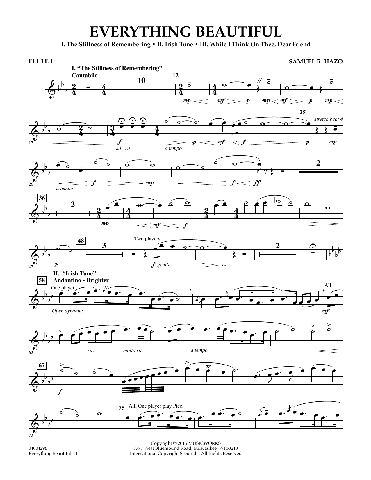 Everything Beautiful - Flute 1 - Sheet Music to Download