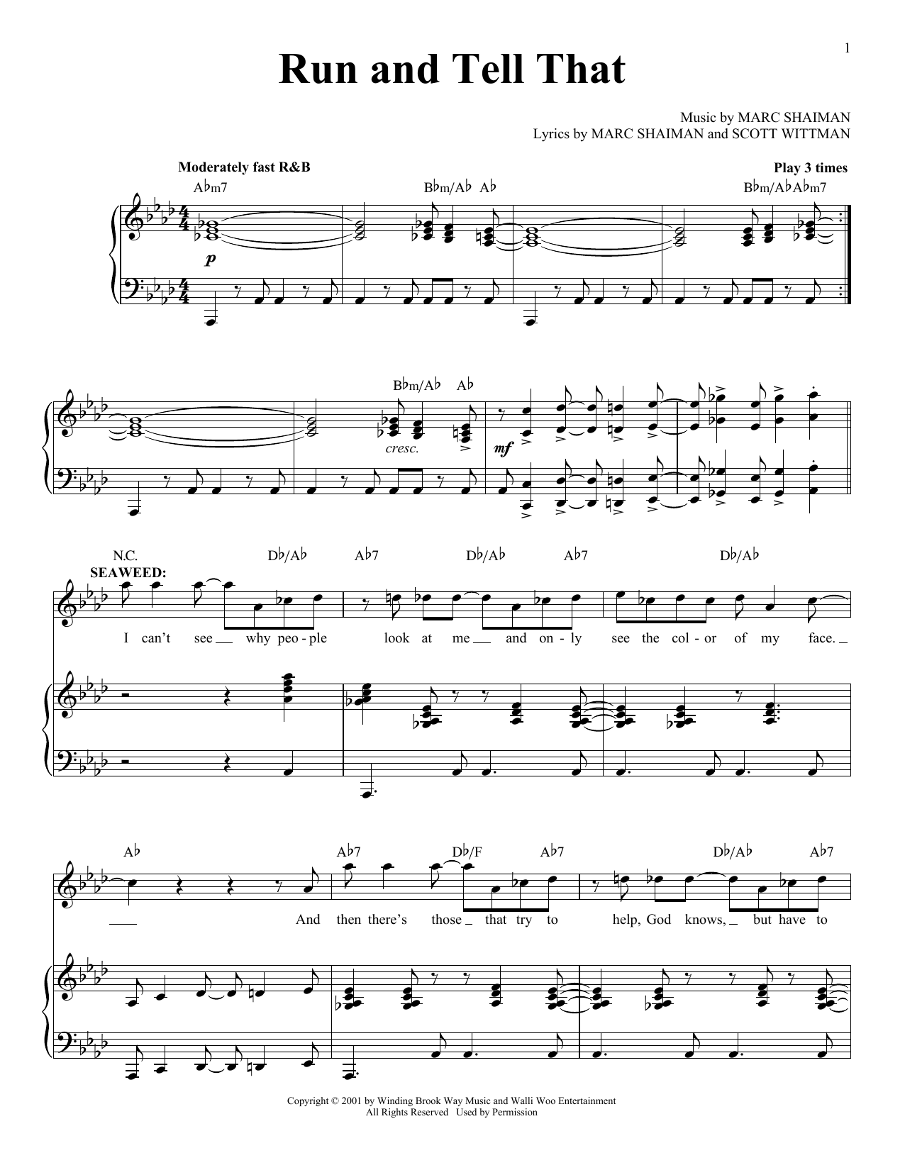 Run And Tell That Sheet Music
