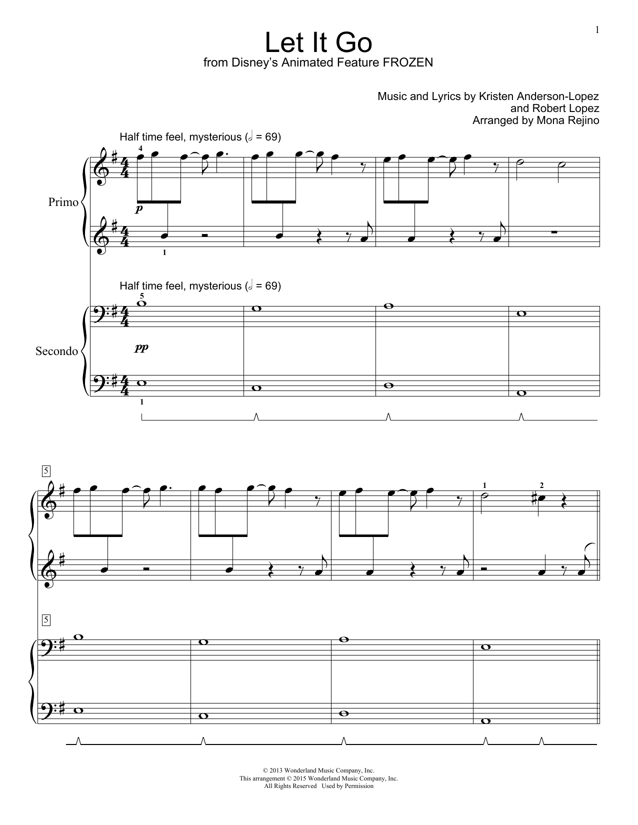 Let It Go Sheet Music