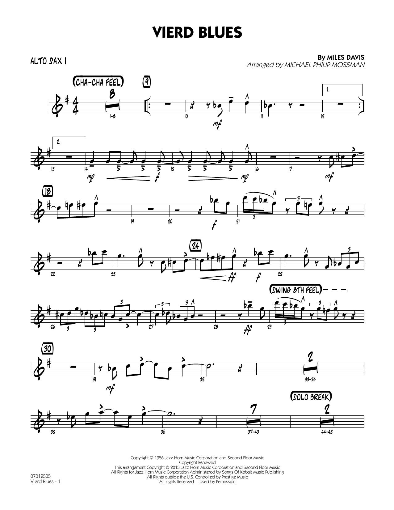 Vierd Blues - Alto Sax 1 (Jazz Ensemble)