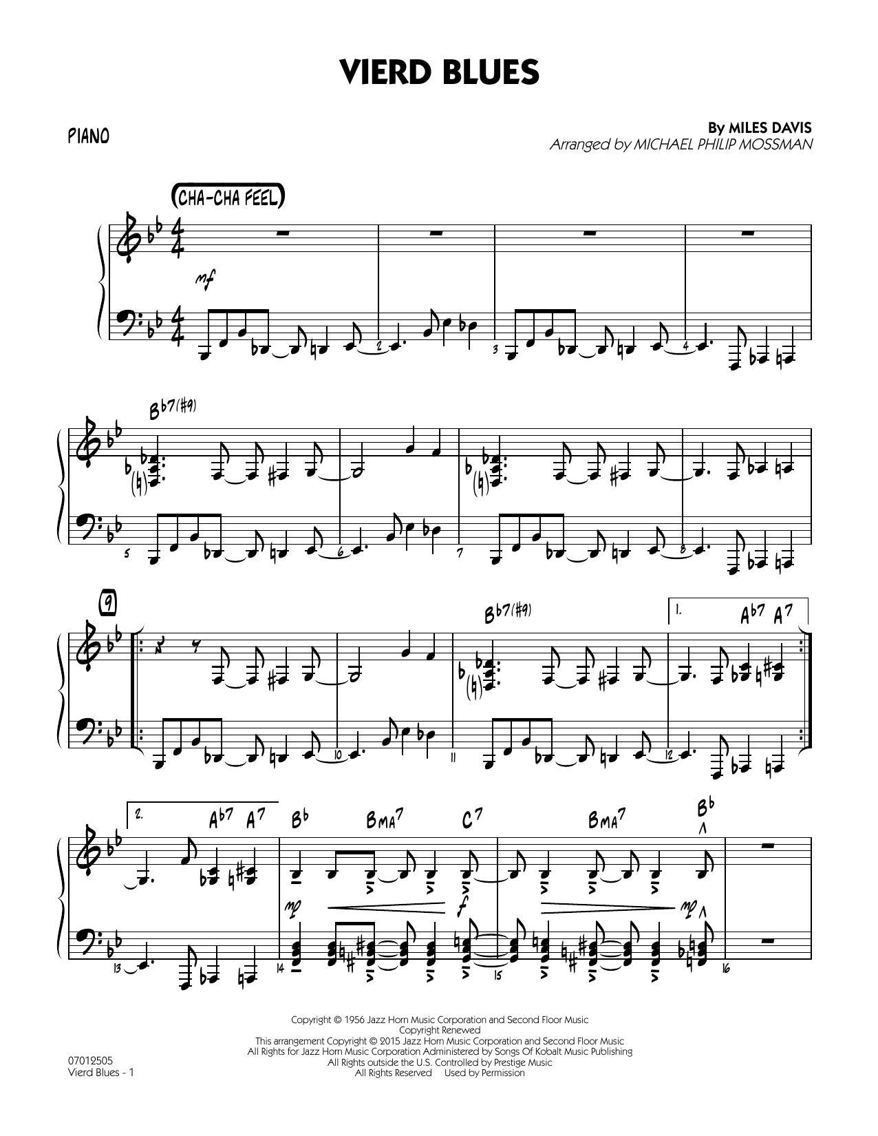 Vierd Blues - Piano (Jazz Ensemble)