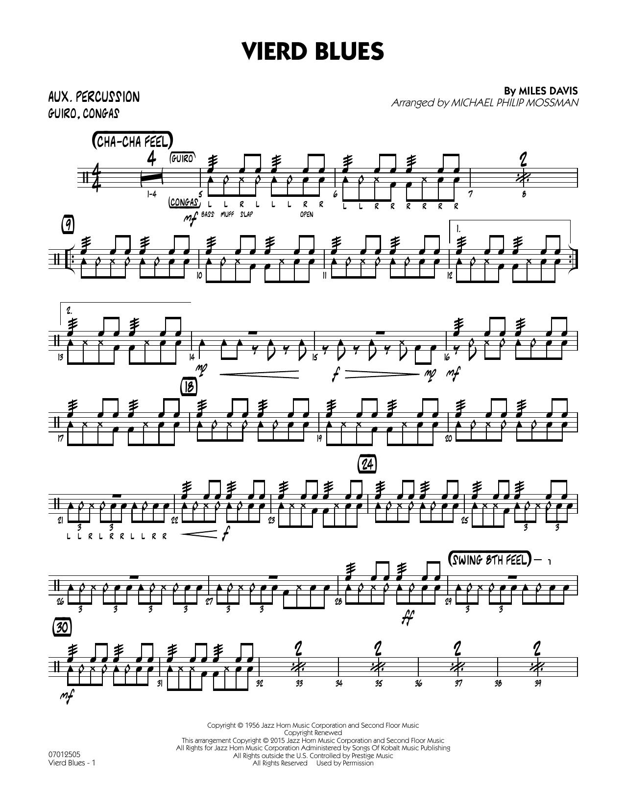 Vierd Blues - Aux Percussion (Jazz Ensemble)