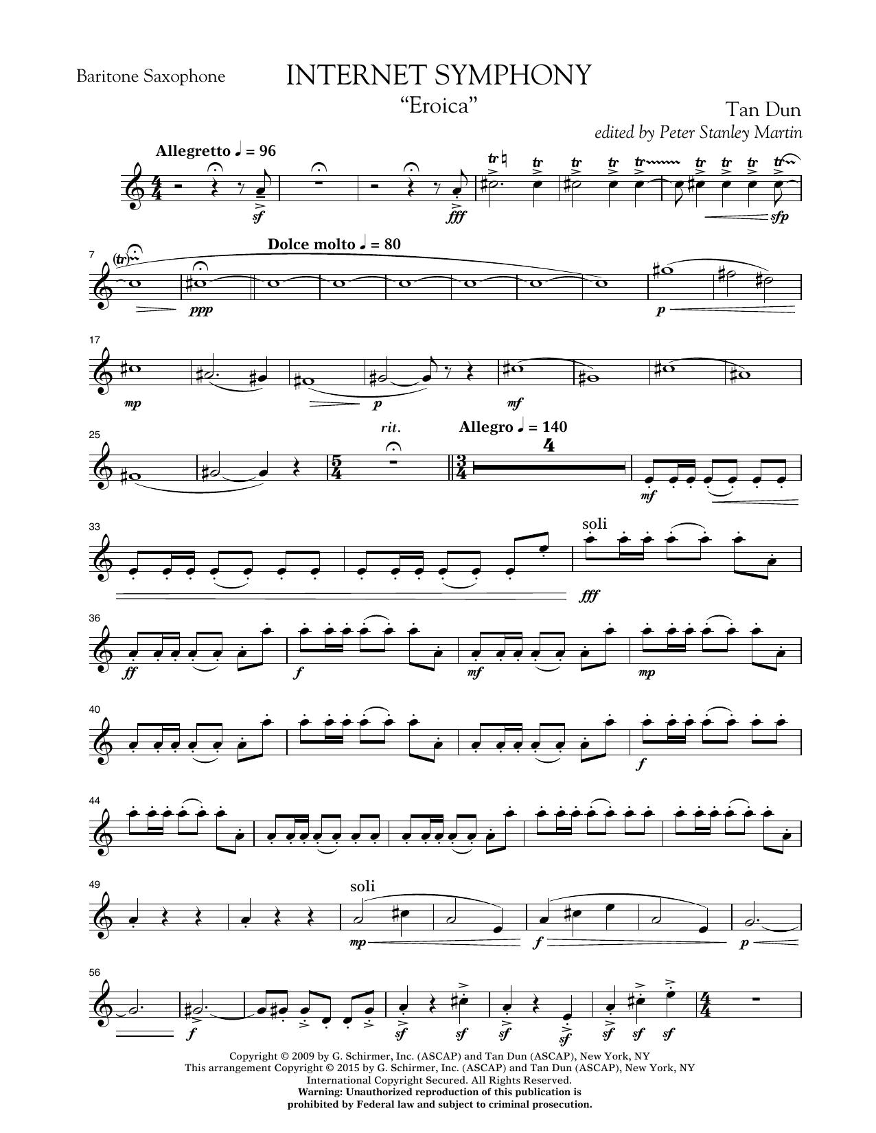 "Internet Symphony ""Eroica"" - Eb Baritone Saxophone (Concert Band)"
