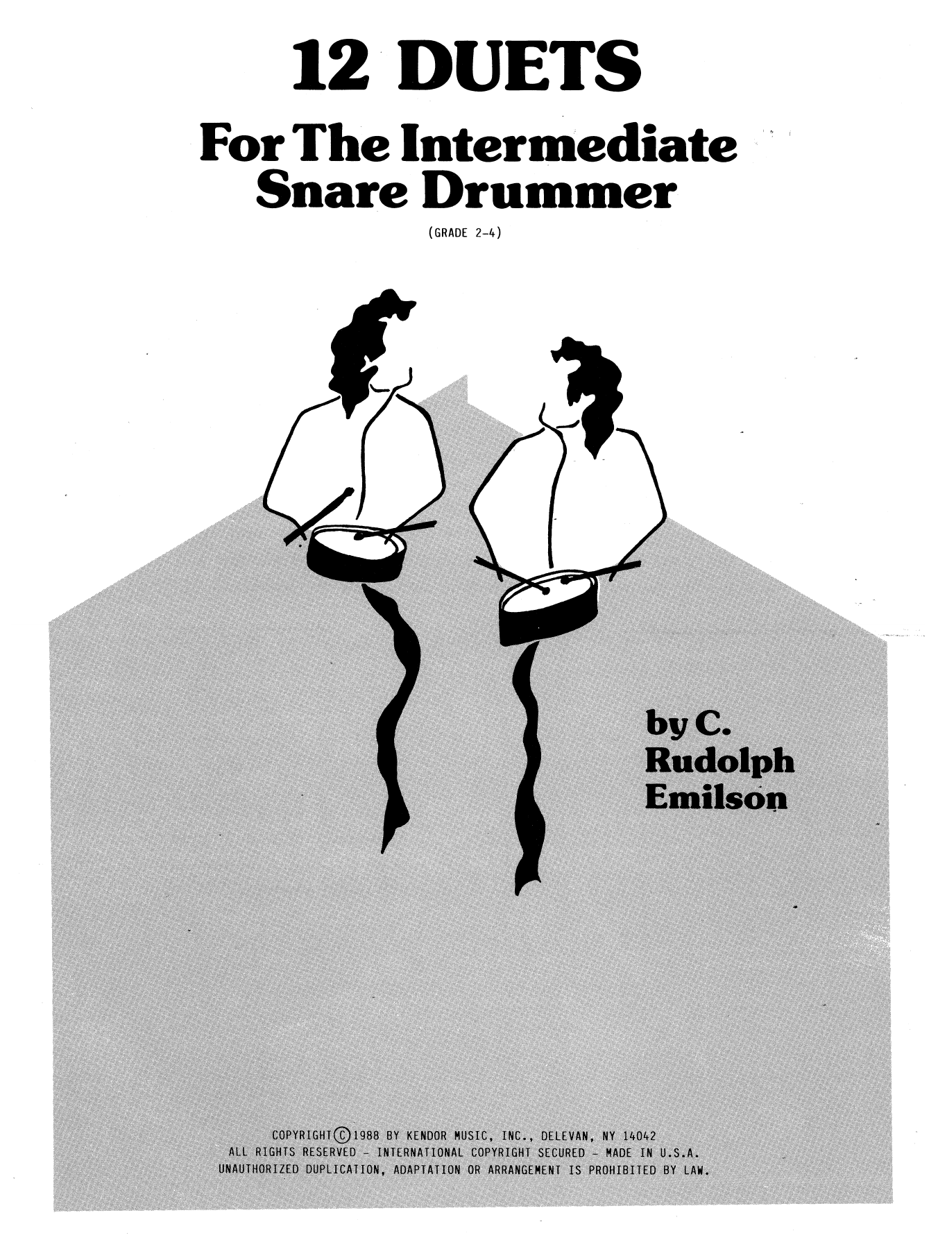 12 Duets For The Intermediate Snare Drummer Sheet Music