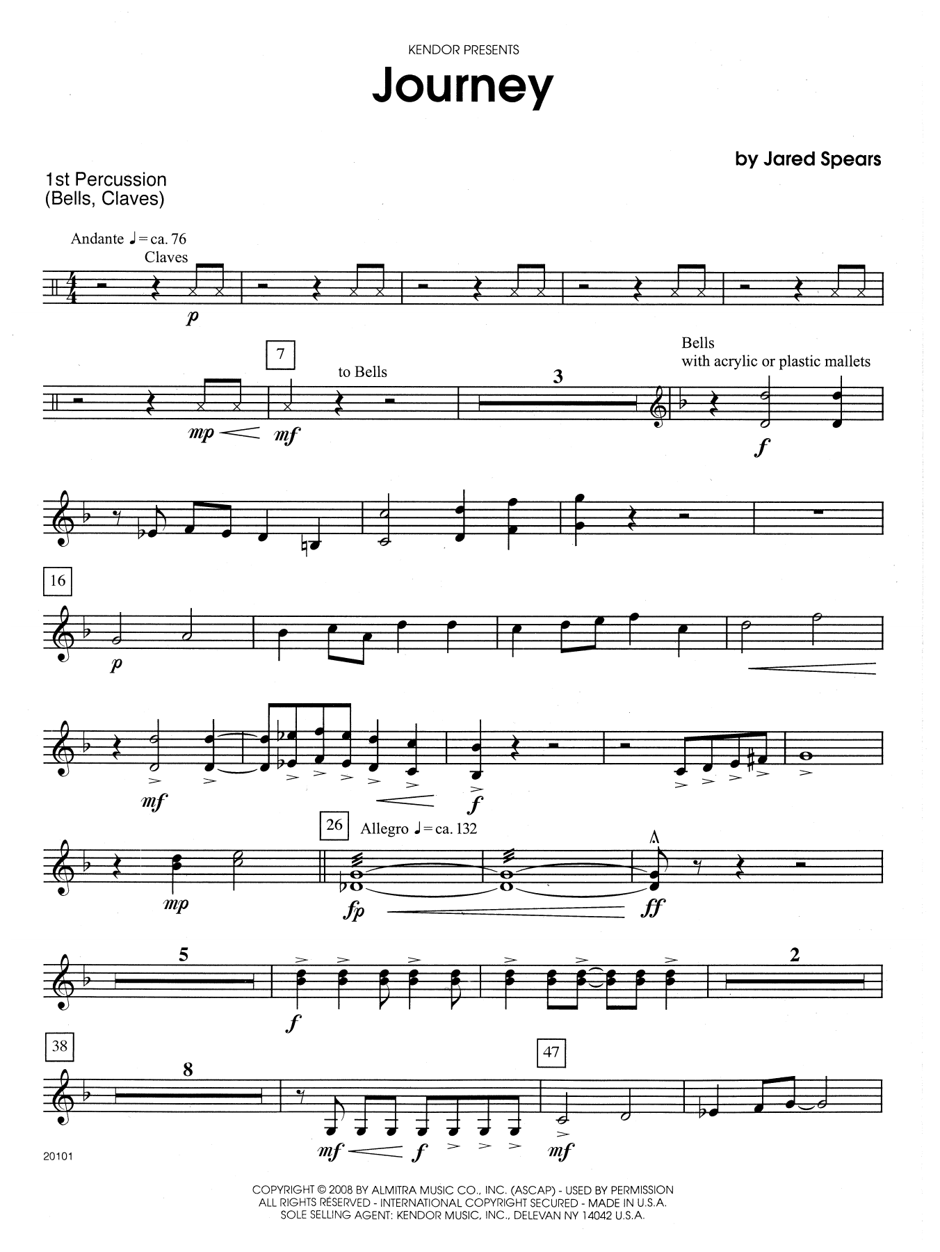 Journey - Percussion 1 Sheet Music