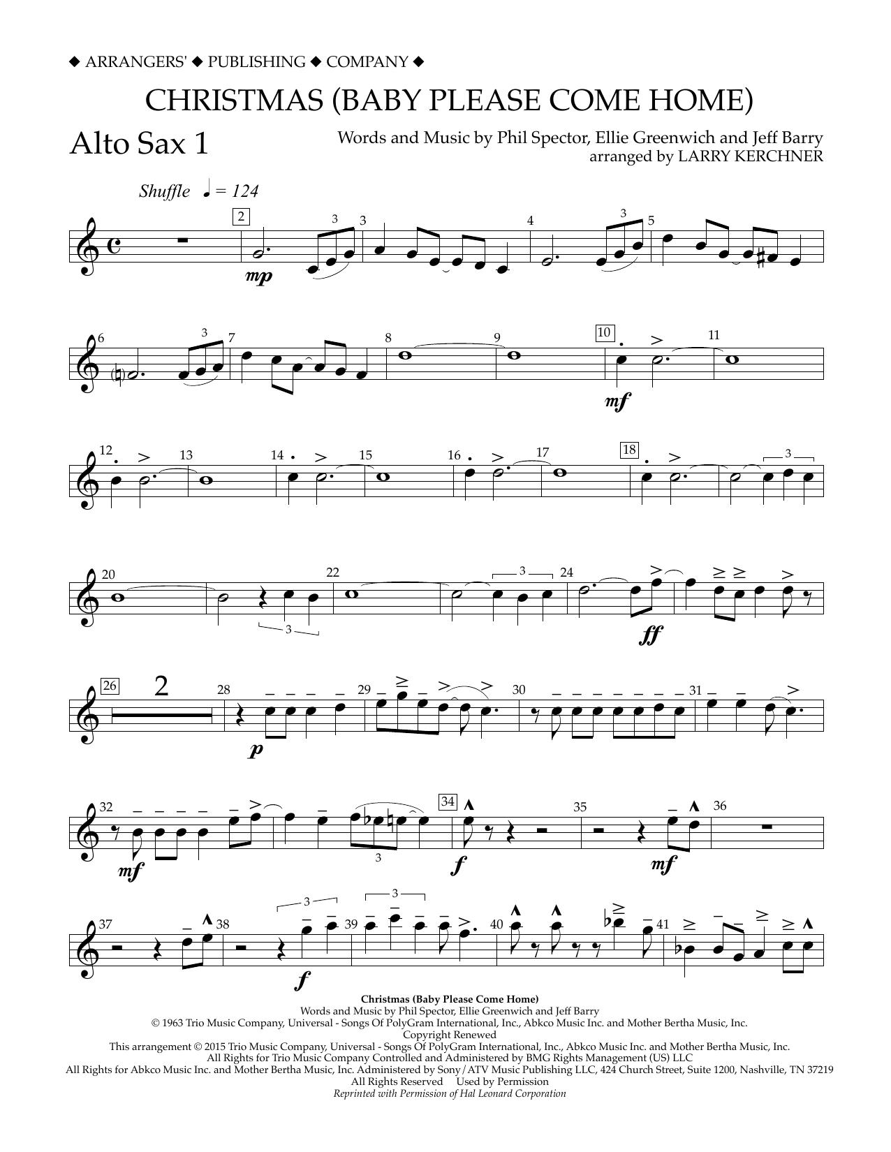 Christmas Please Come Home.Christmas Baby Please Come Home Eb Alto Saxophone 1
