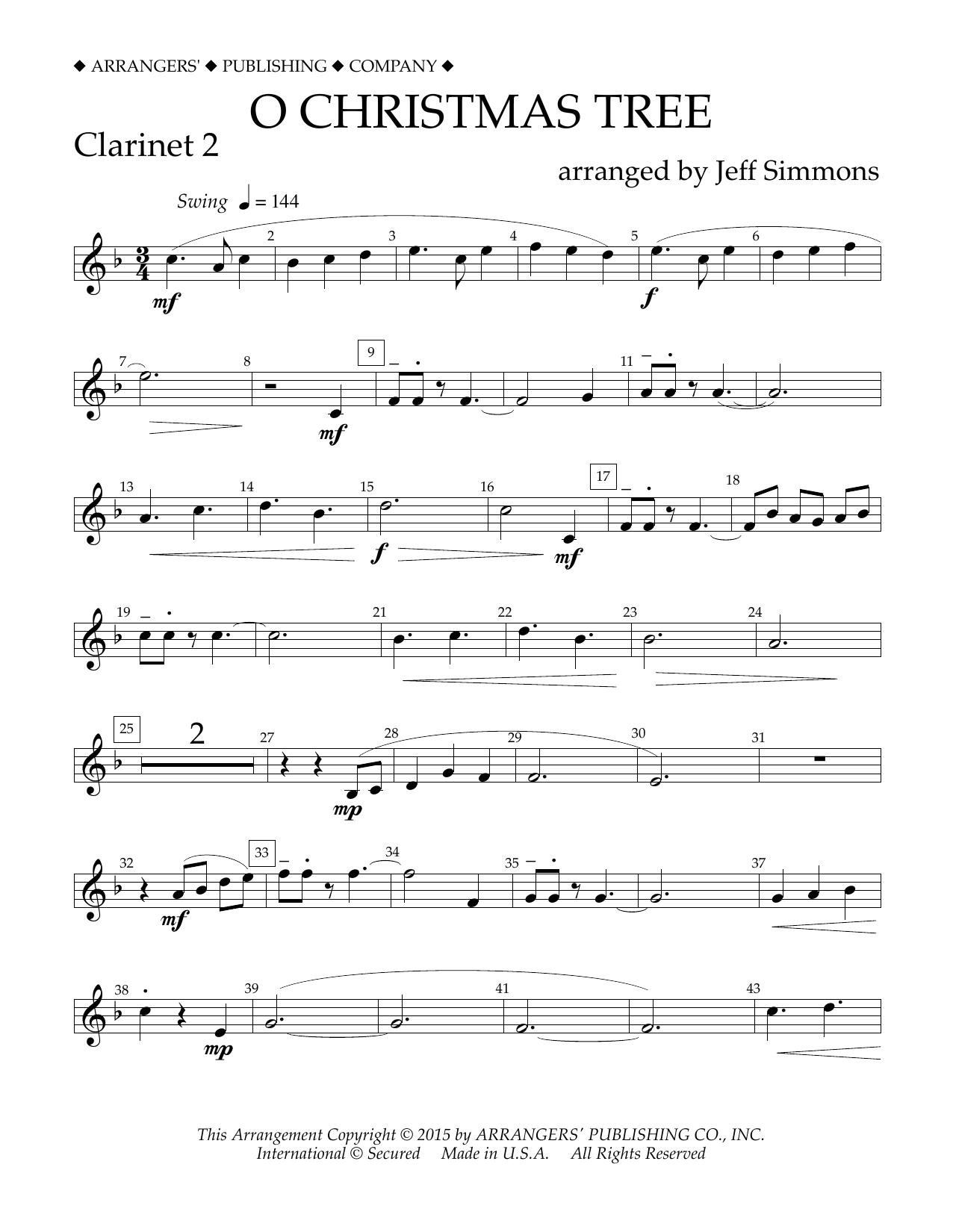 O Christmas Tree - Bb Clarinet 2 at Stanton\'s Sheet Music