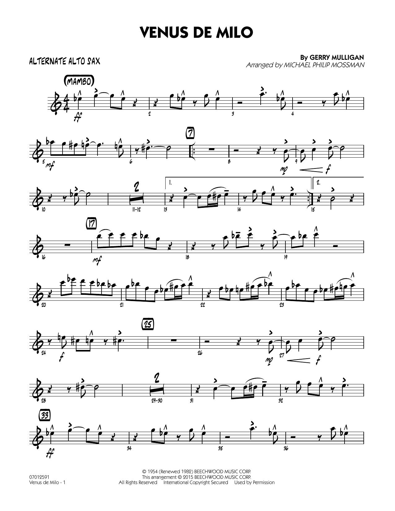 Venus de Milo - Alternate Alto Sax (Jazz Ensemble)