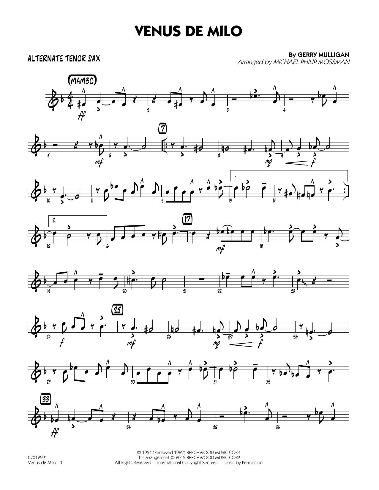 Venus de Milo - Alternate Tenor Sax (Jazz Ensemble)