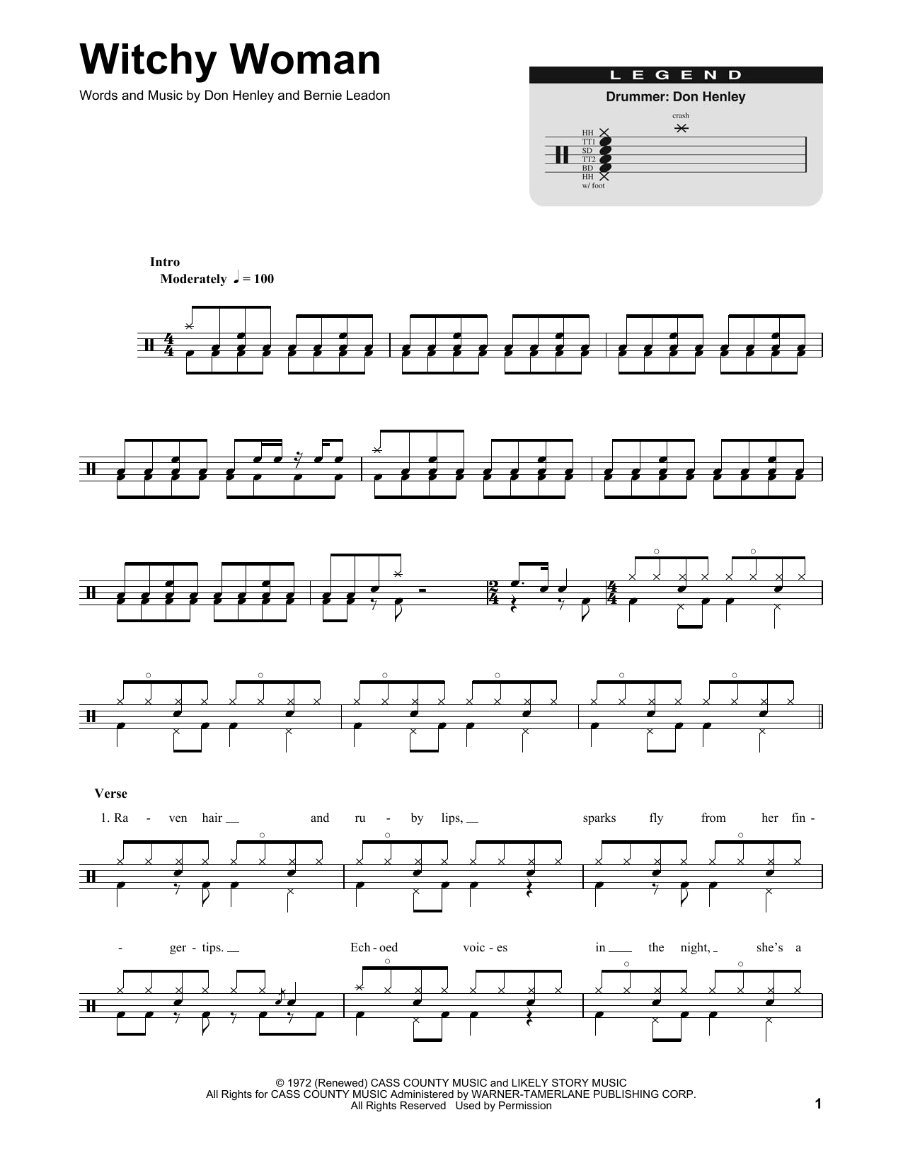 Witchy Woman Sheet Music