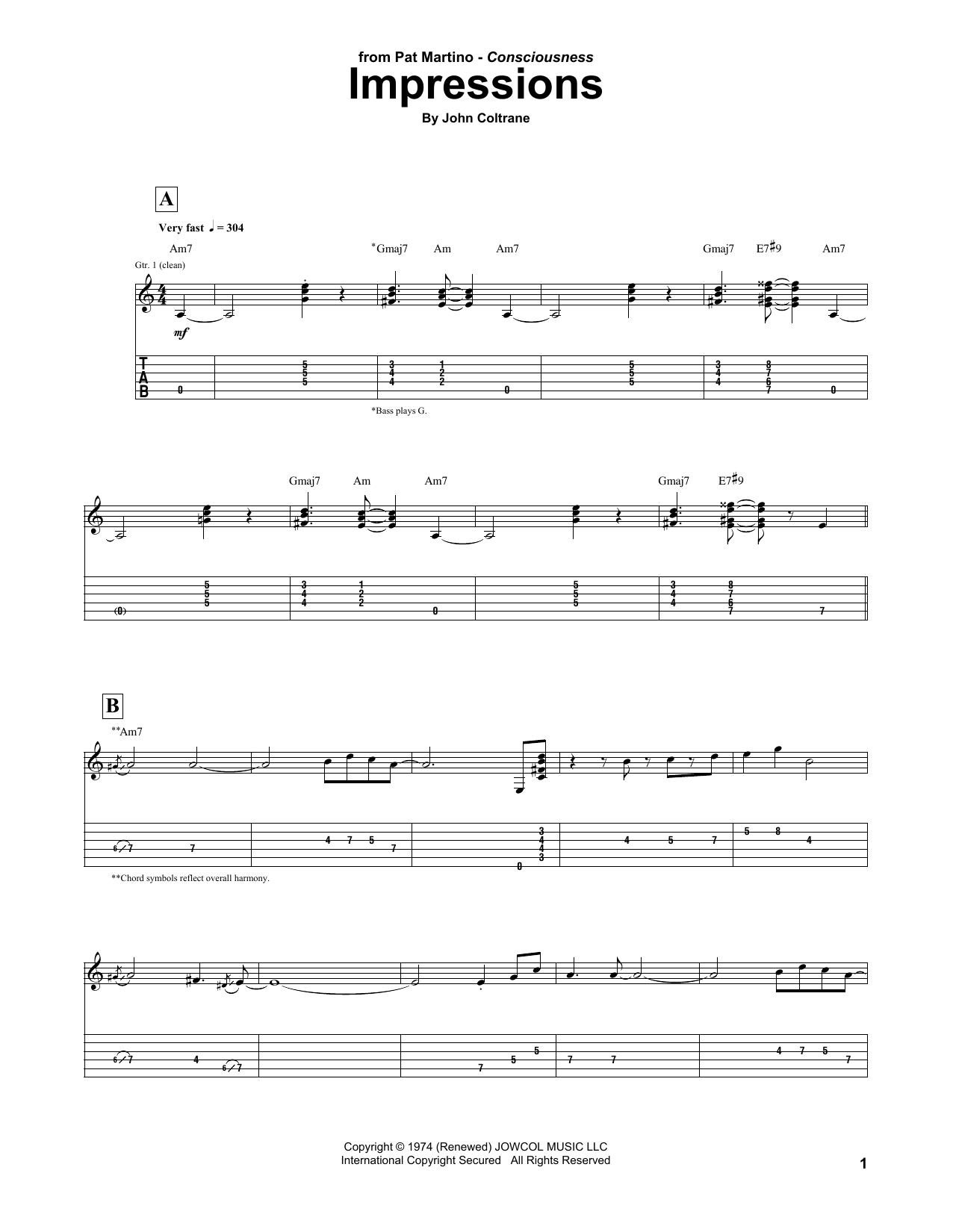 Impressions (Guitar Tab)