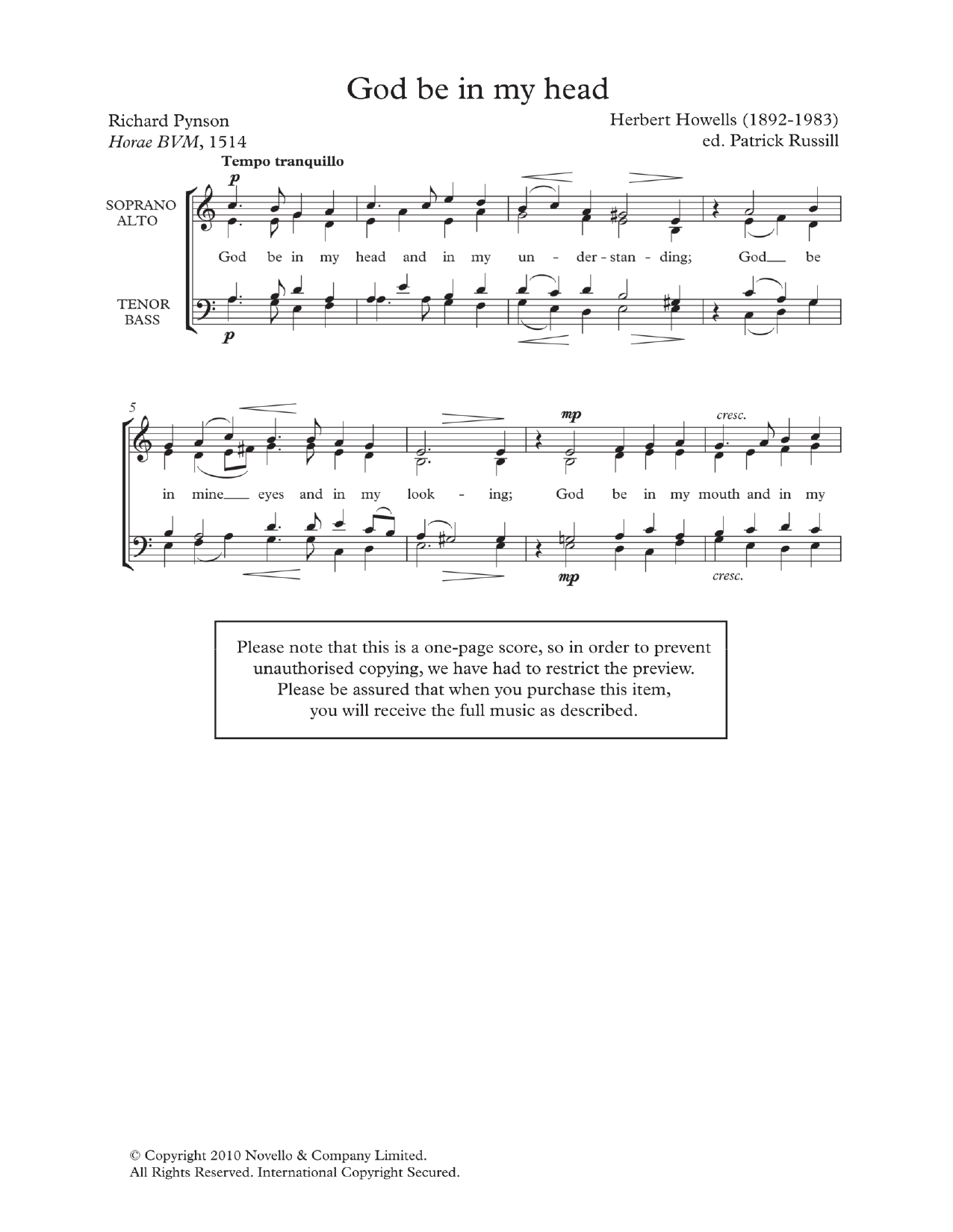 God Be In My Head Sheet Music