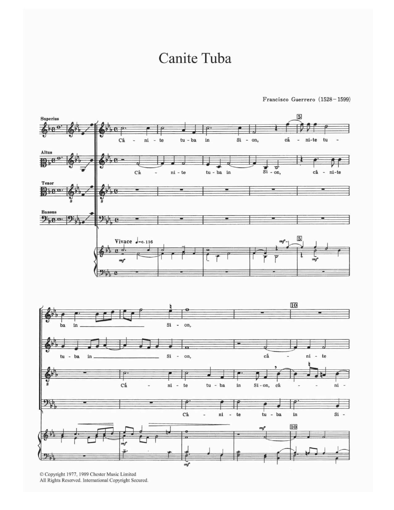 Canite Tuba Sheet Music