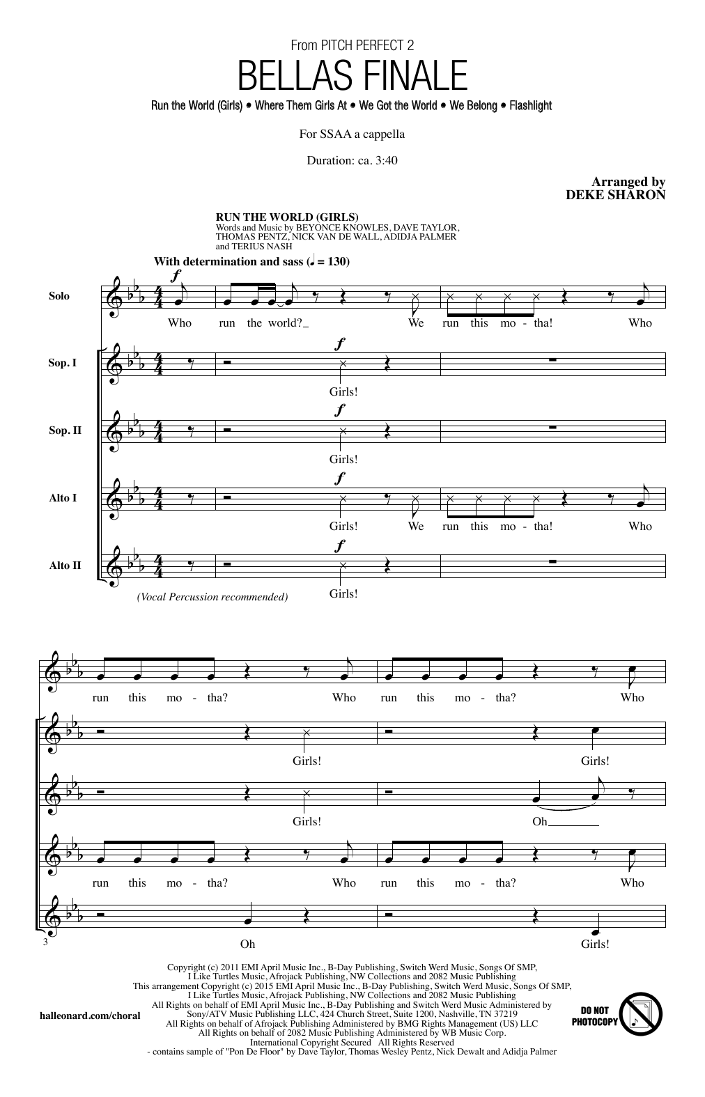 Bellas Finale Sheet Music