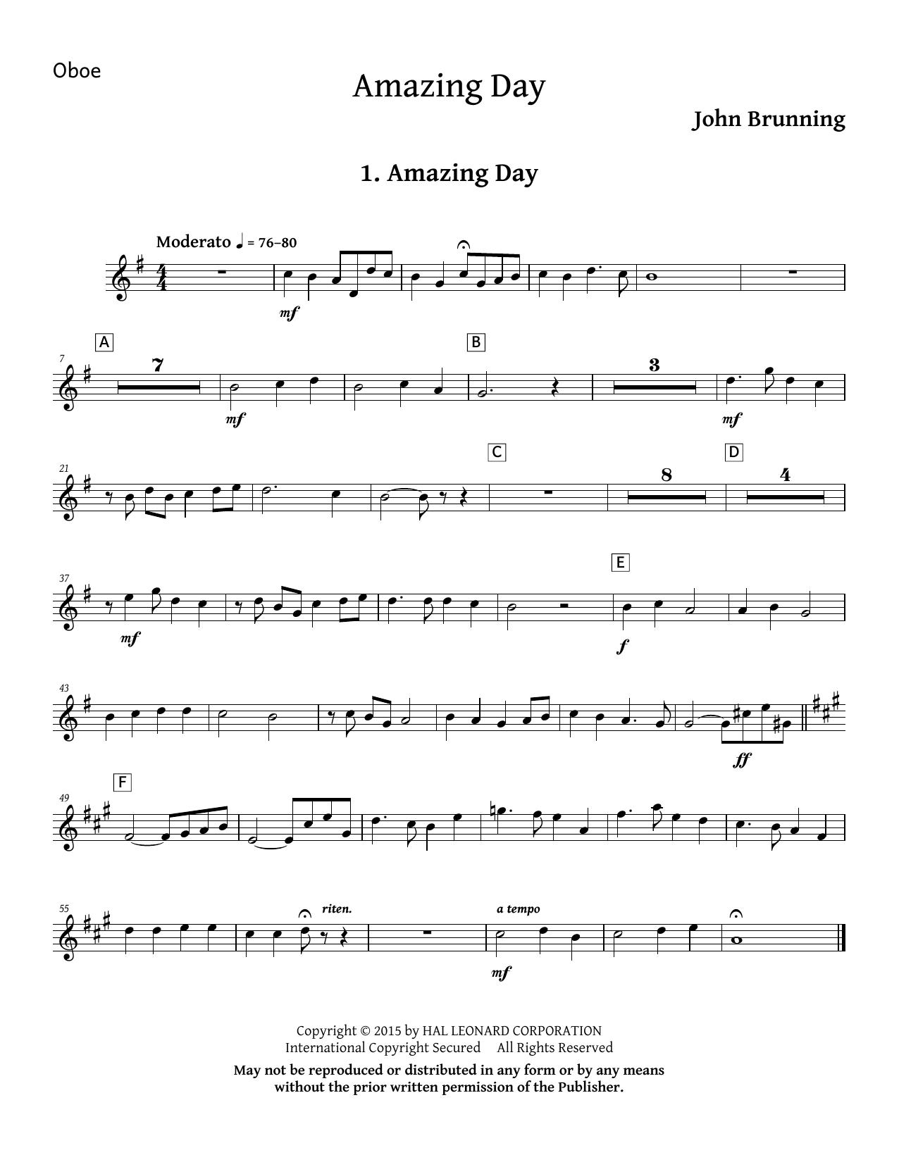 Amazing Day - Oboe Sheet Music
