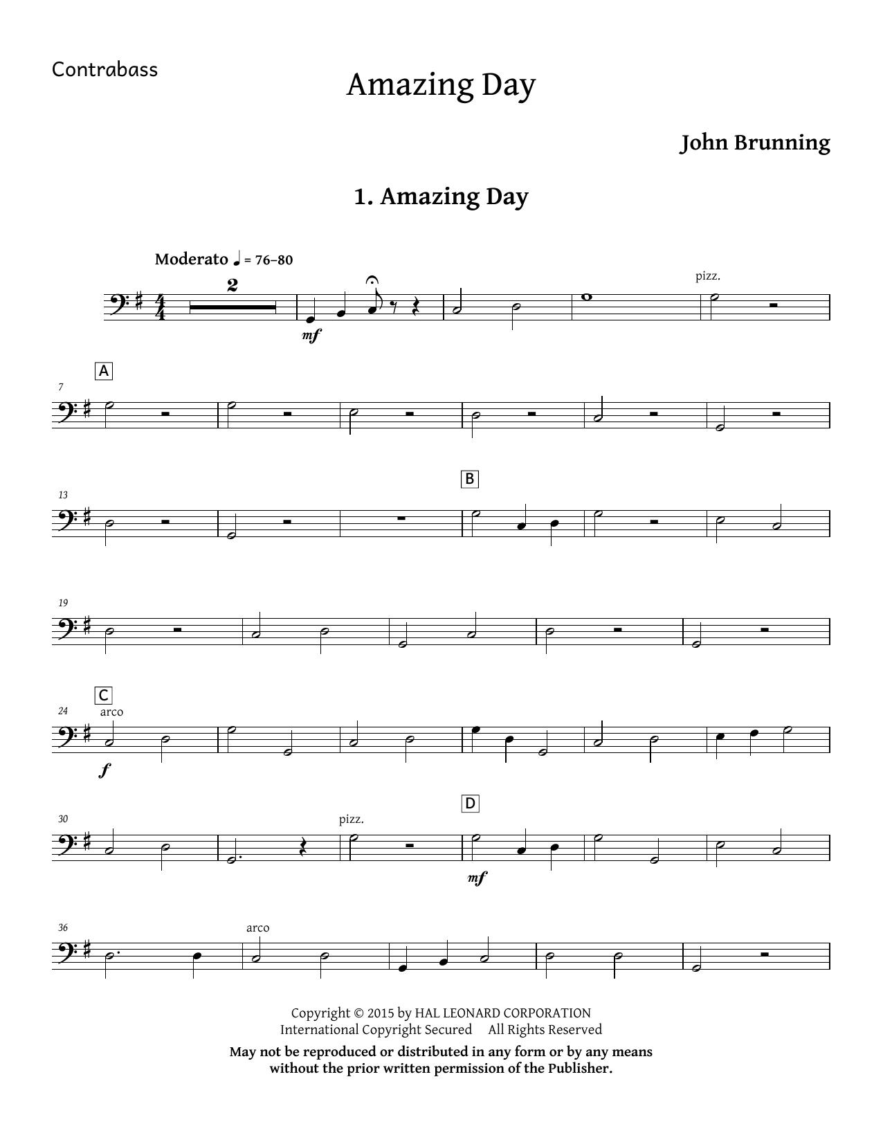 Amazing Day - Double Bass Sheet Music