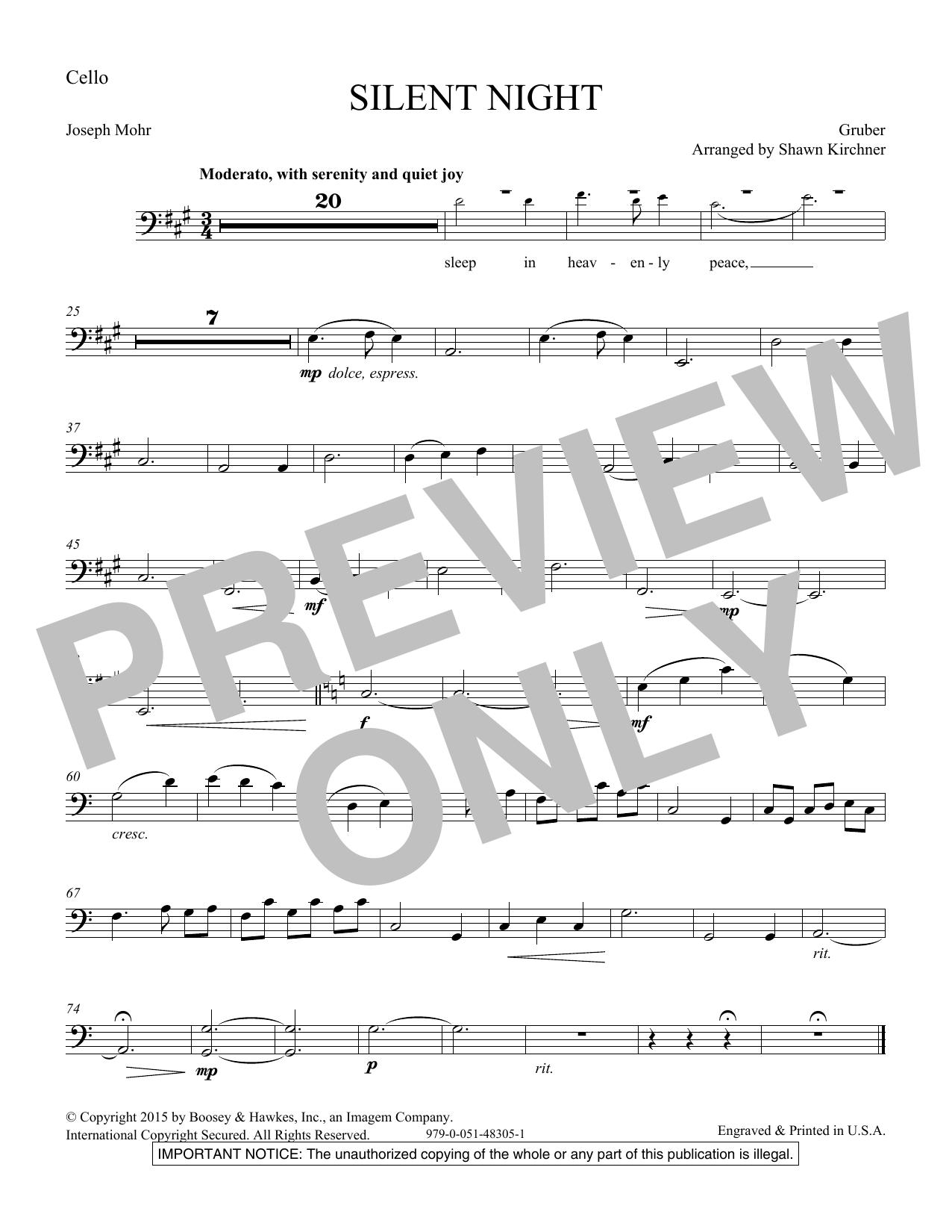 Silent Night - Cello Sheet Music