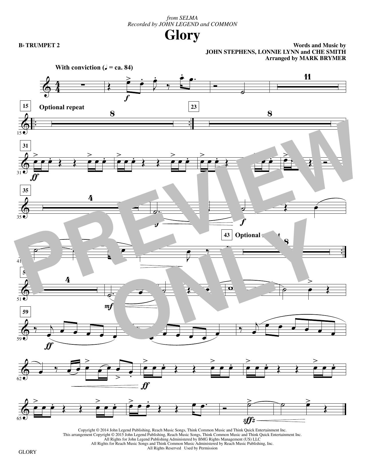 Glory - Bb Trumpet 2 (Choir Instrumental Pak)