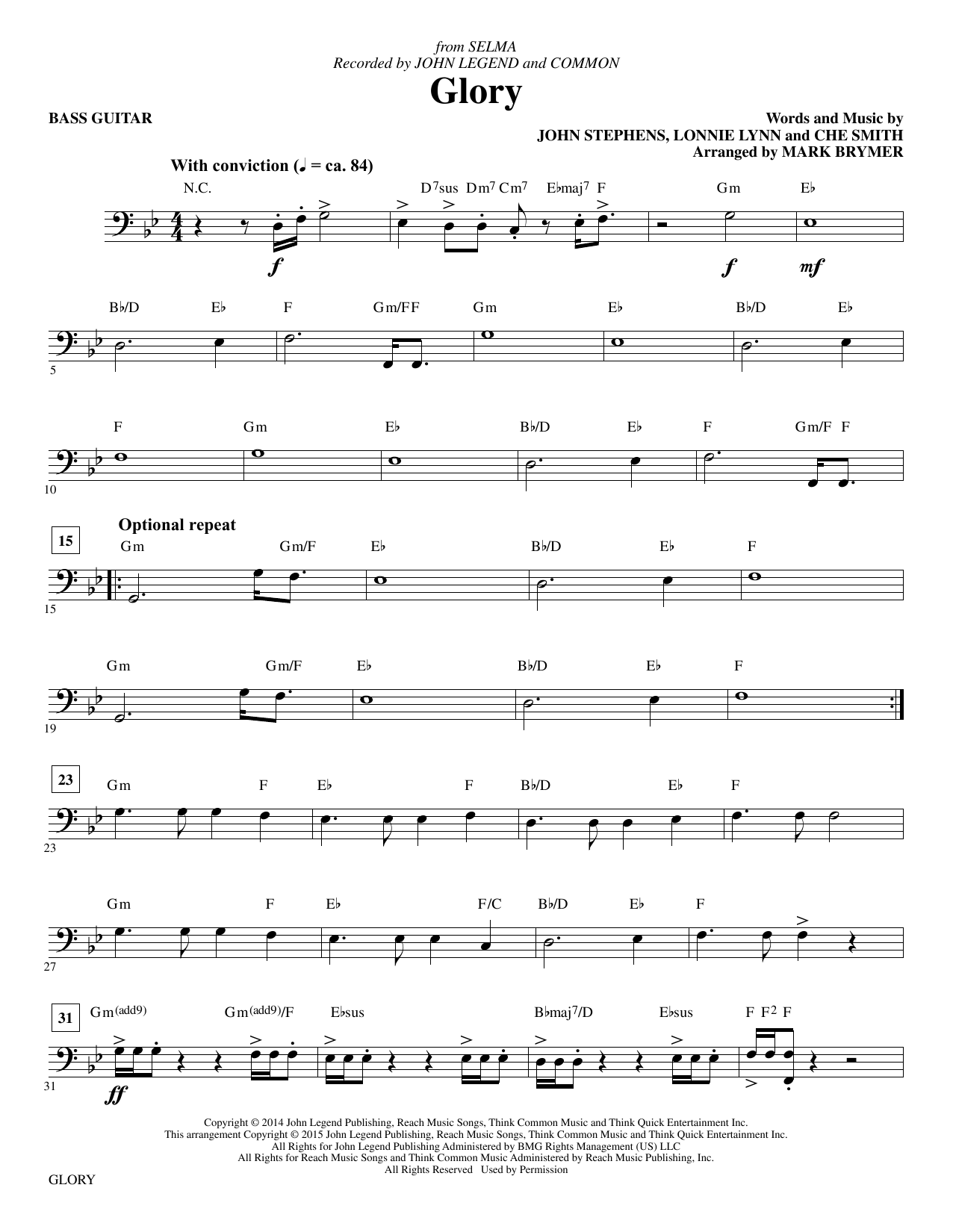 Glory - Electric Bass (Choir Instrumental Pak)