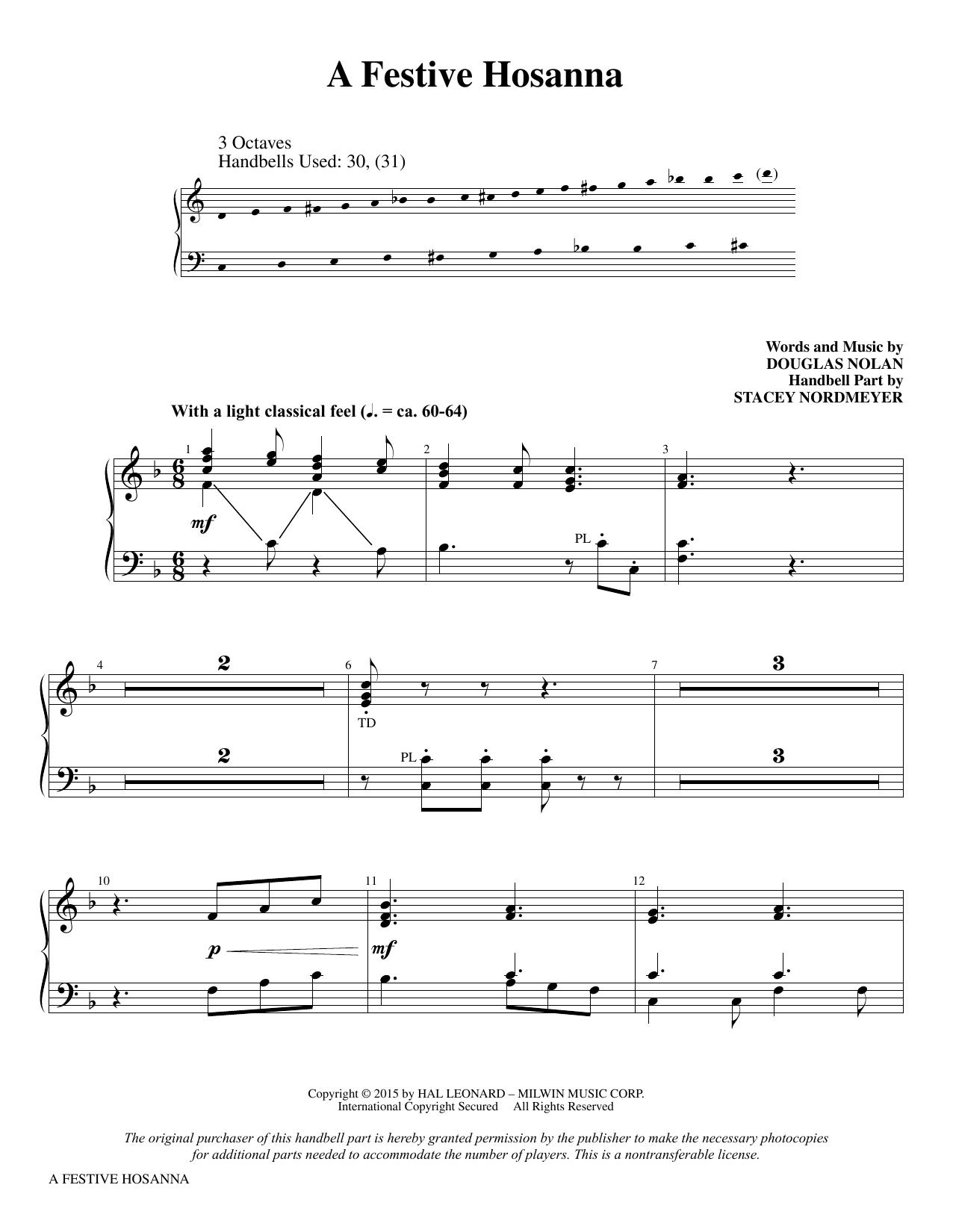 A Festive Hosanna - Handbells (Choir Instrumental Pak)
