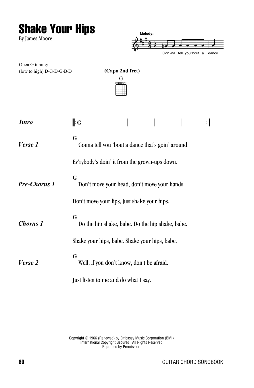Shake Your Hips Sheet Music