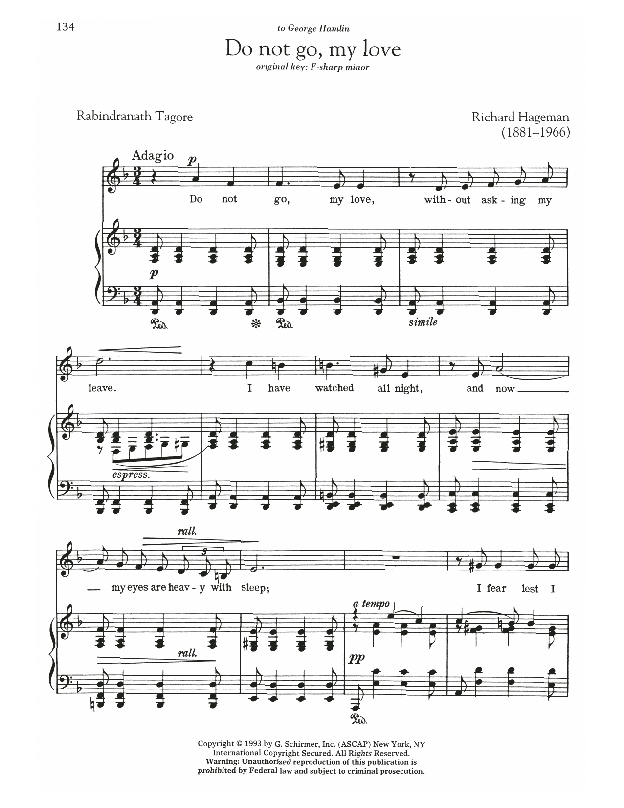 Do Not Go, My Love Sheet Music