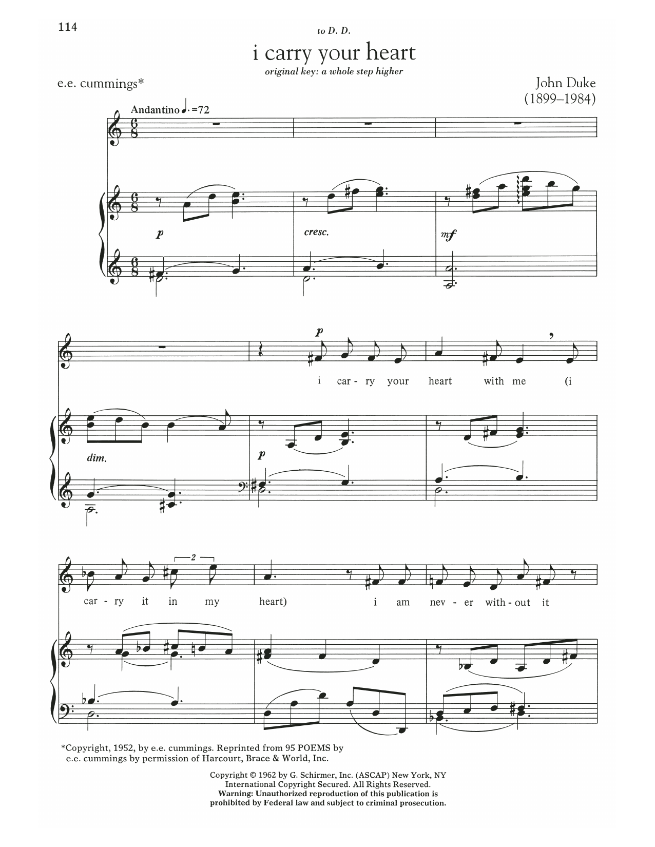 I Carry Your Heart Sheet Music