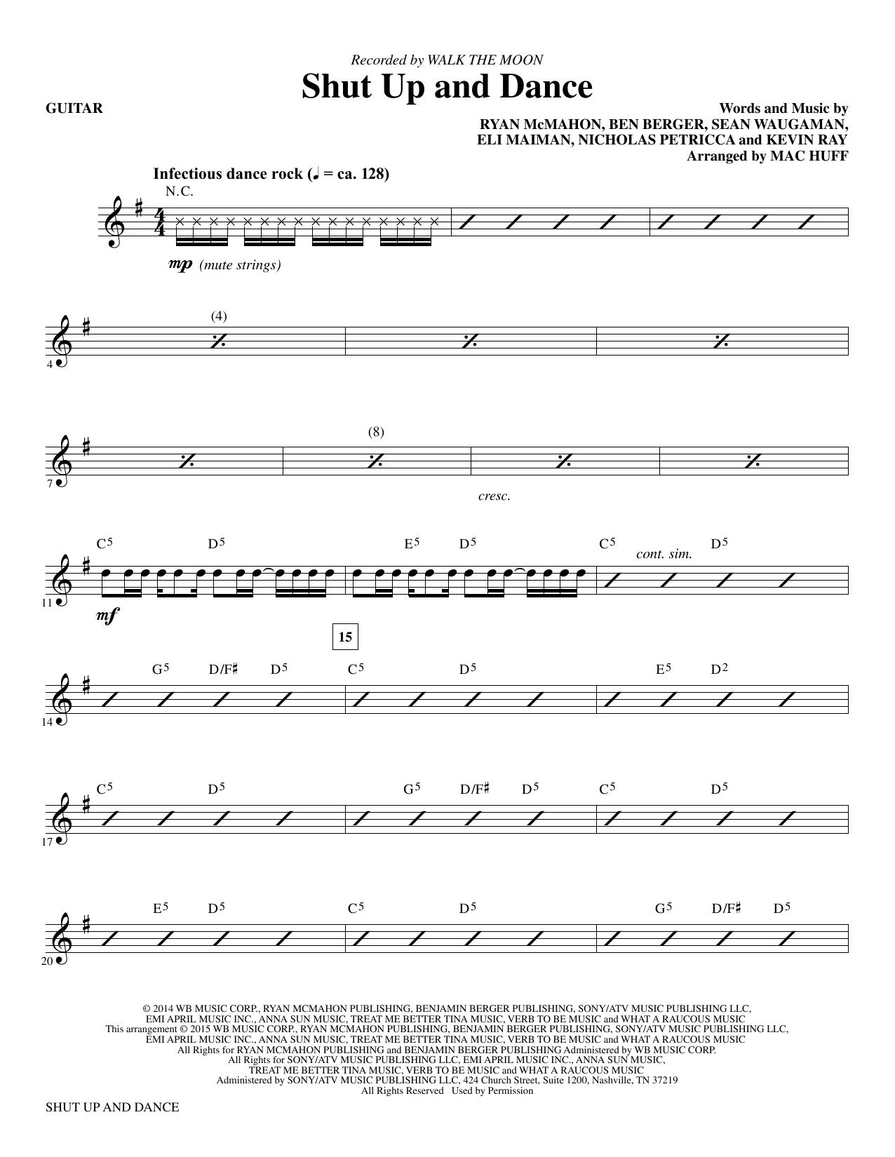 Shut Up and Dance (arr. Mac Huff) - Guitar (Choir Instrumental Pak)