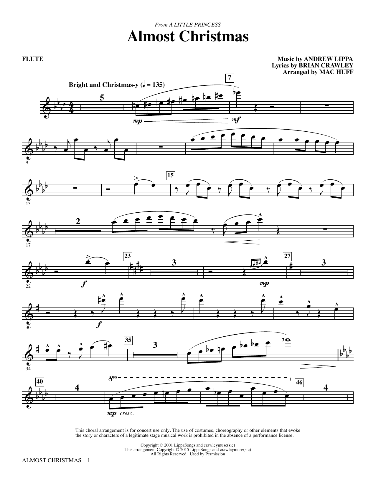 Almost Christmas - Flute Sheet Music